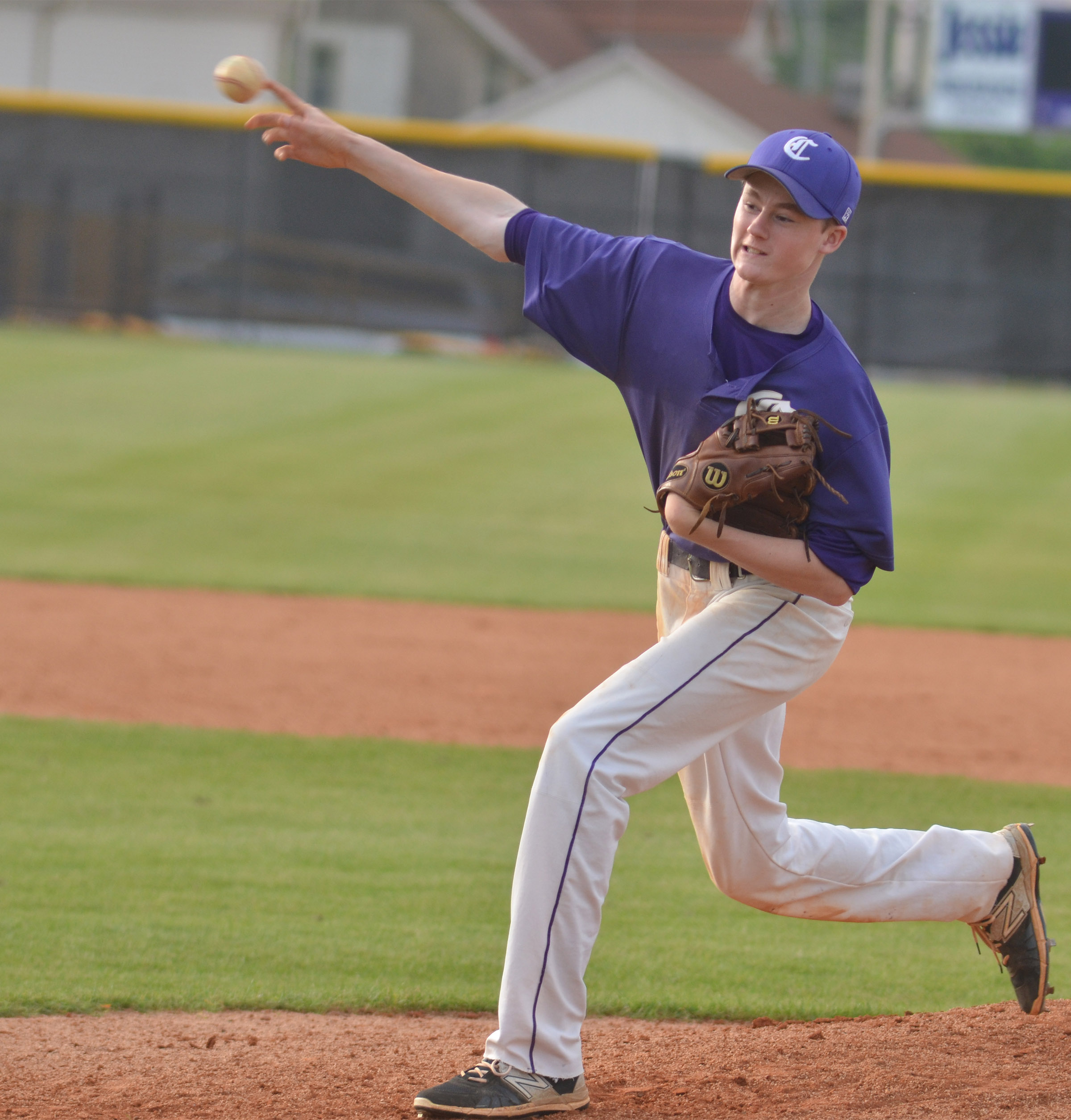 CMS eighth-grader Tristin Faulkner pitches.