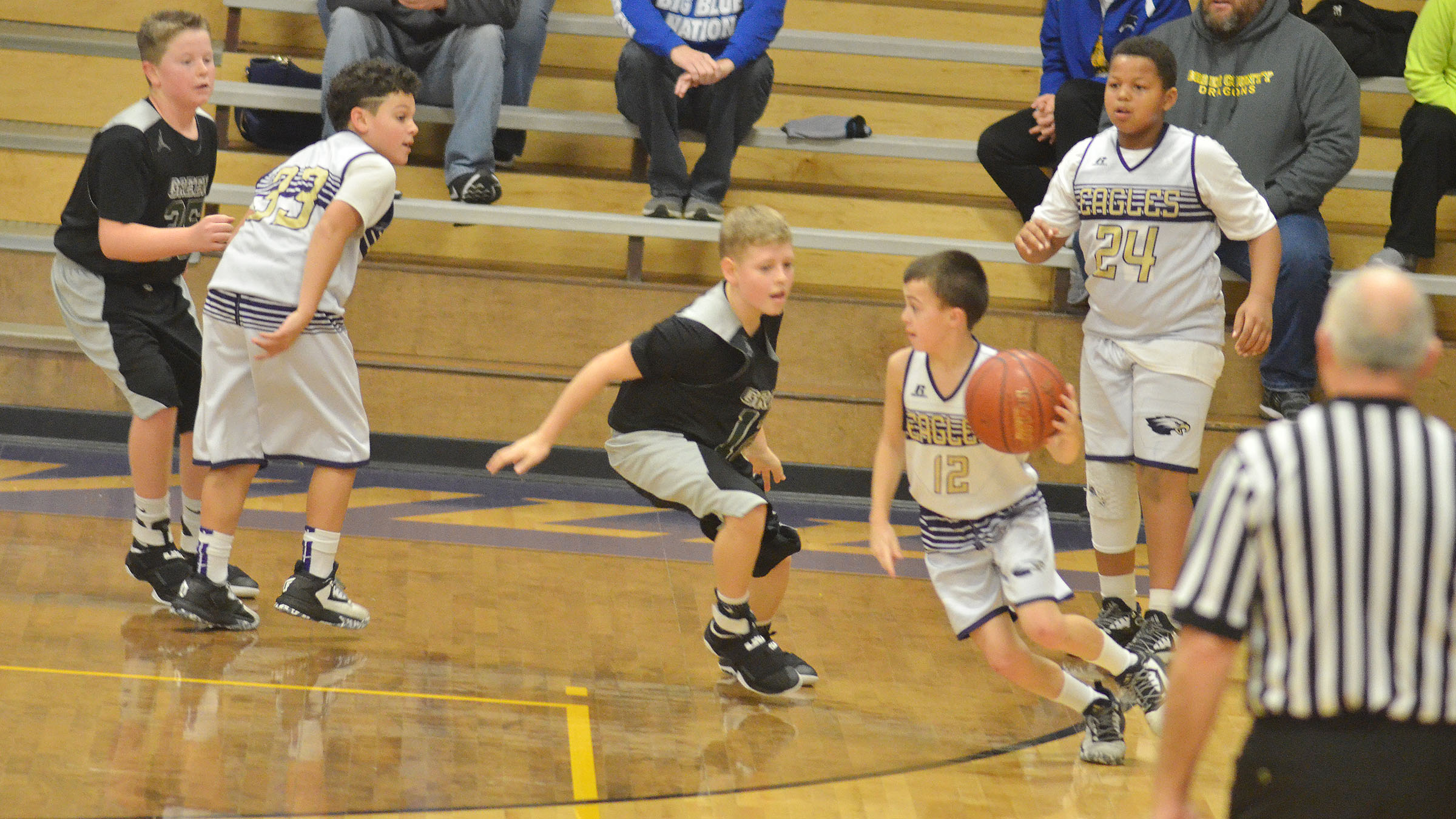 CMS sixth-grader Chase Hord sets up a play.