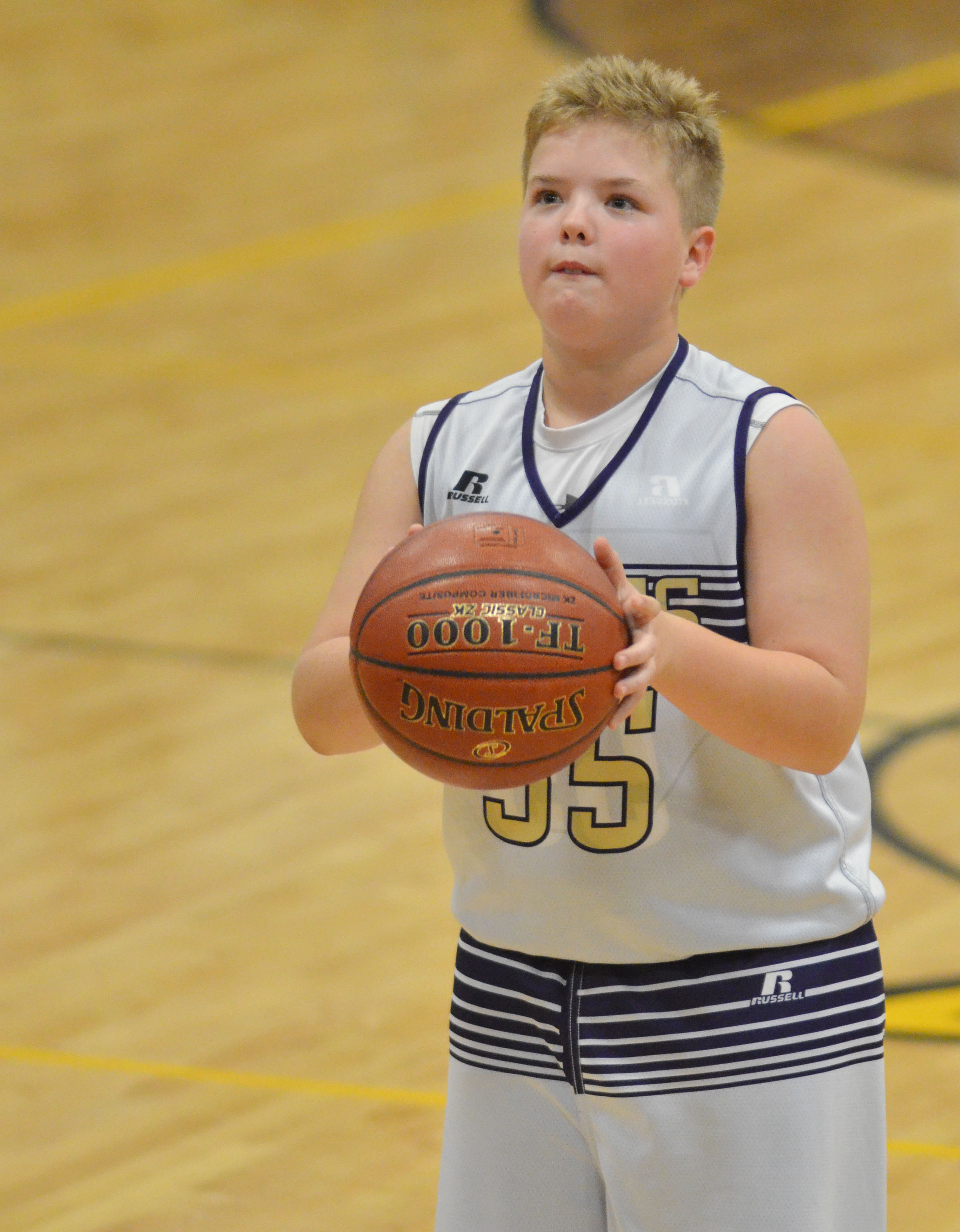 CMS fifth-grader Ryan Grubbs shoots the ball.