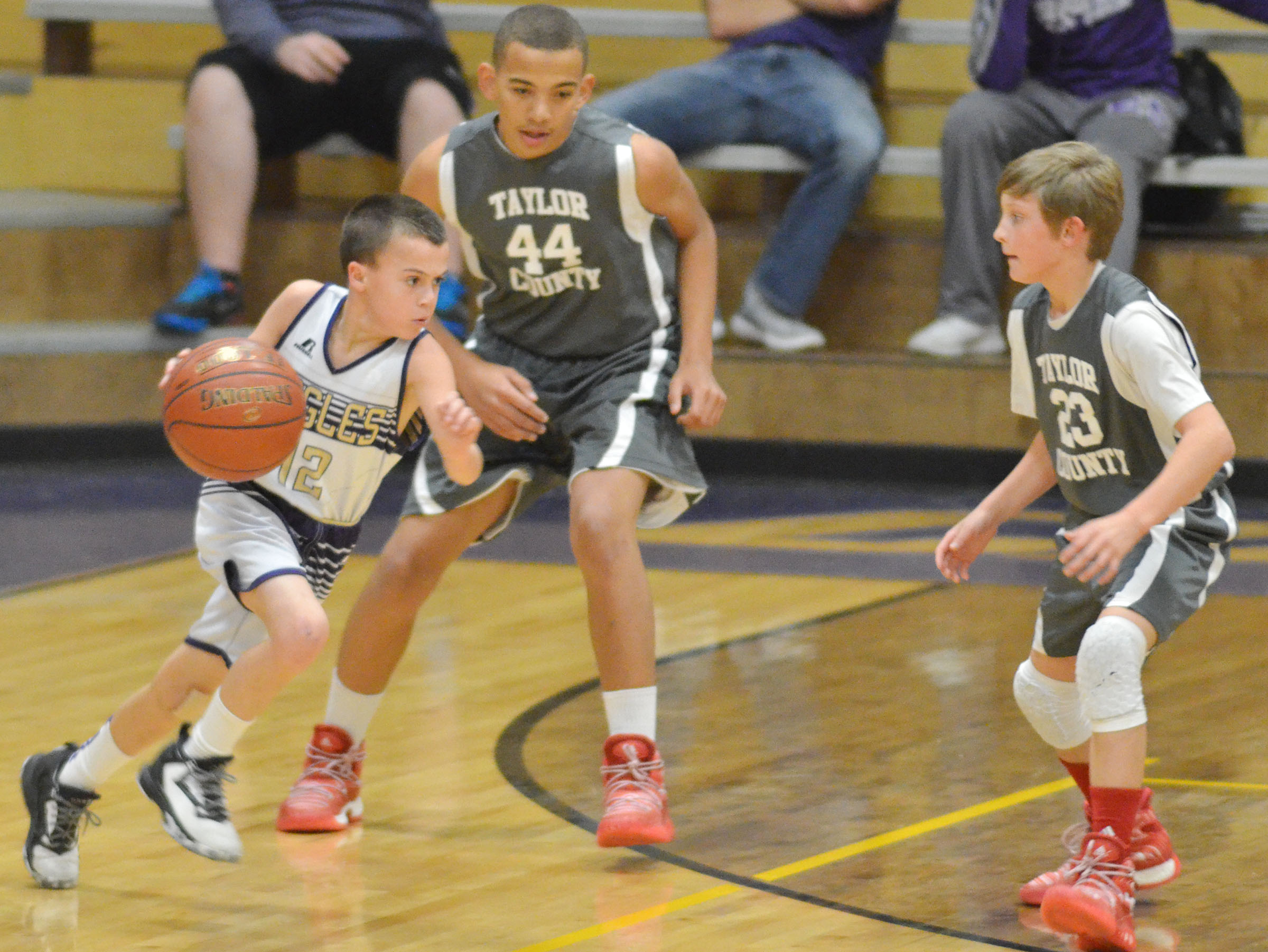 CMS sixth-grader Chase Hord drives the ball.