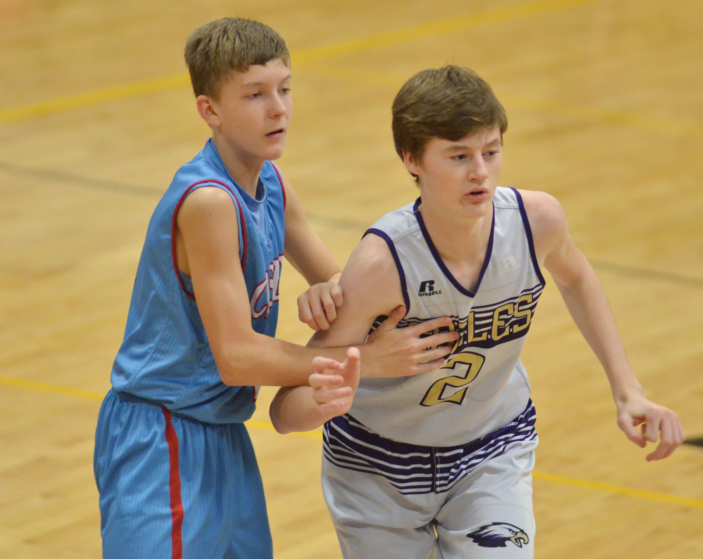 CMS eighth-grader Tristin Faulkner plays defense.