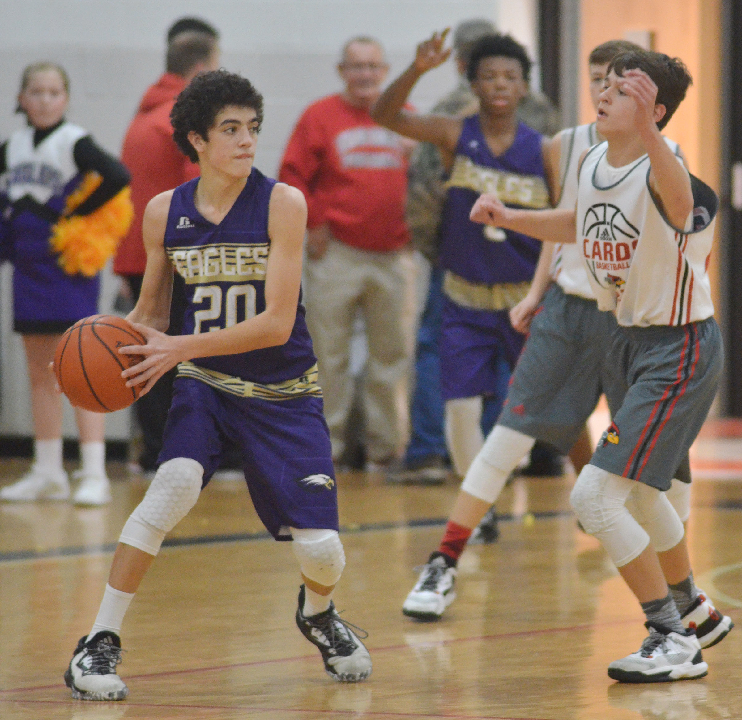 CMS eighth-grader Kameron Smith passes.