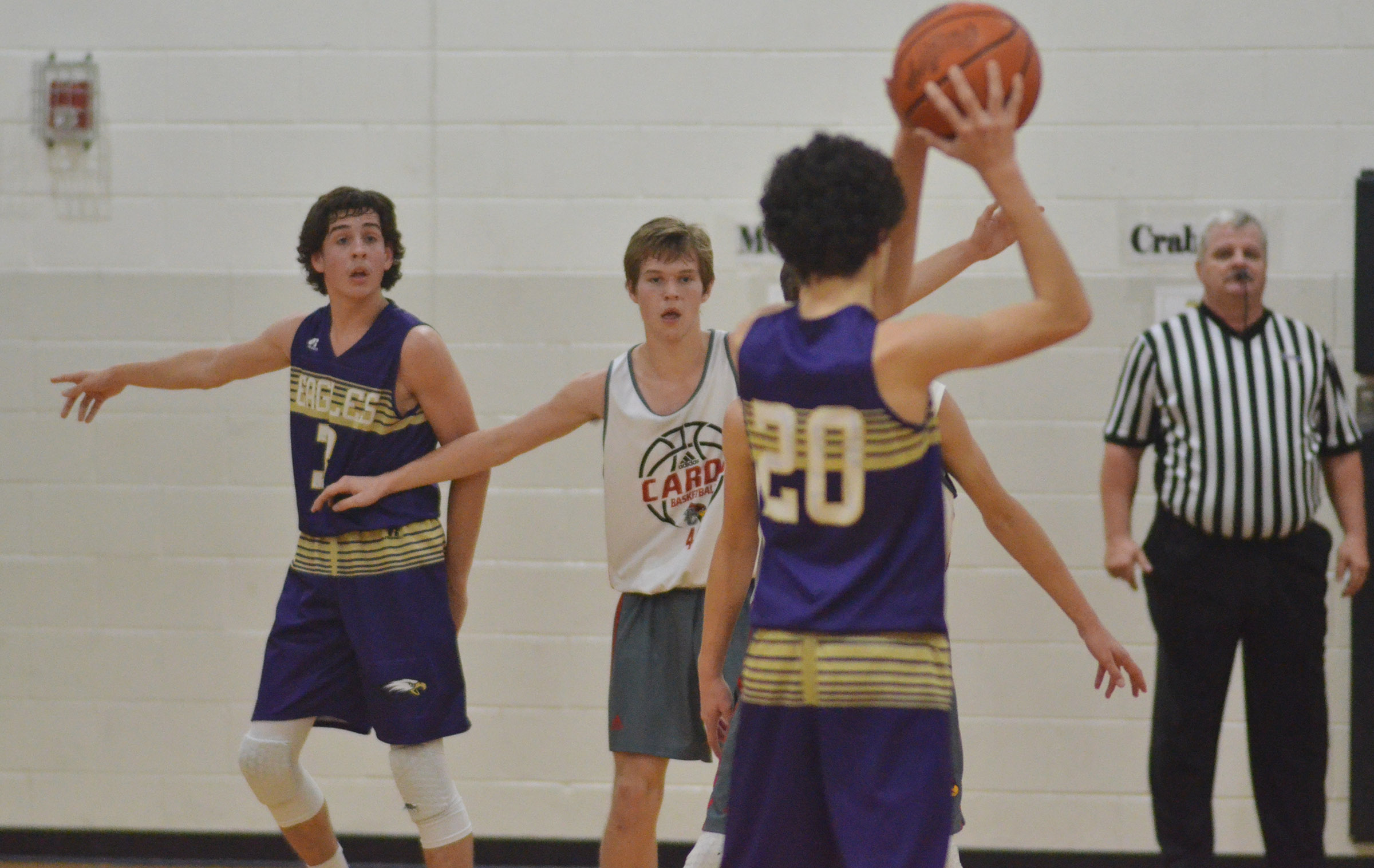 CMS eighth-grader John Orberson calls for a pass to his teammate.