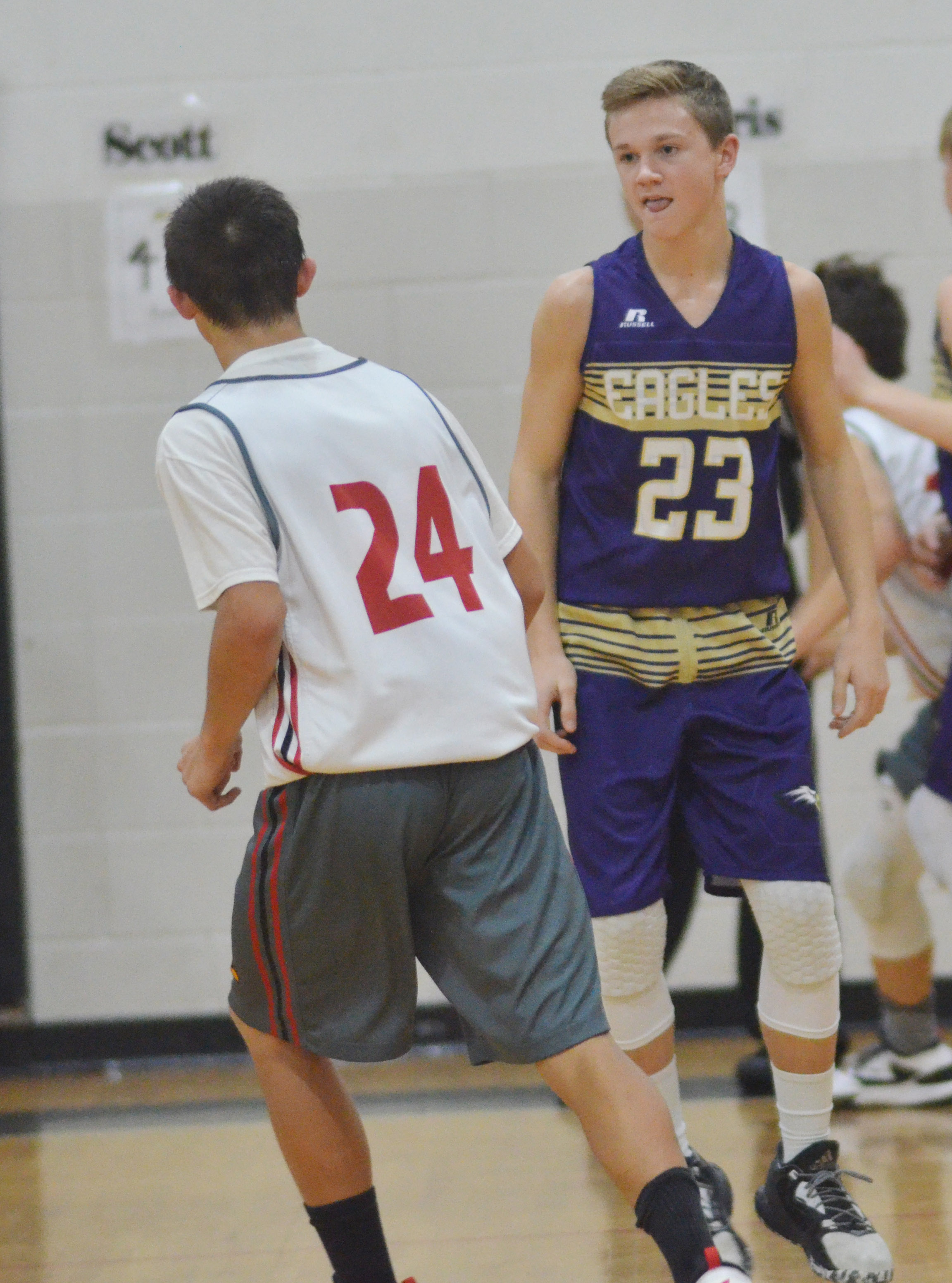 CMS eighth-grader Blase Wheatley plays defense.