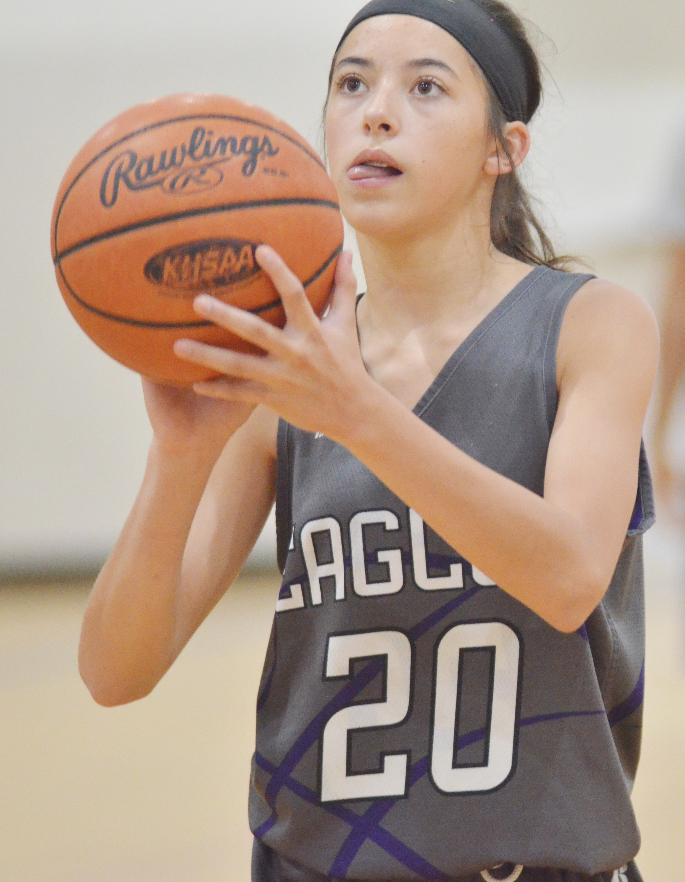 CMS eighth-grader Kaylyn Smith shoots.