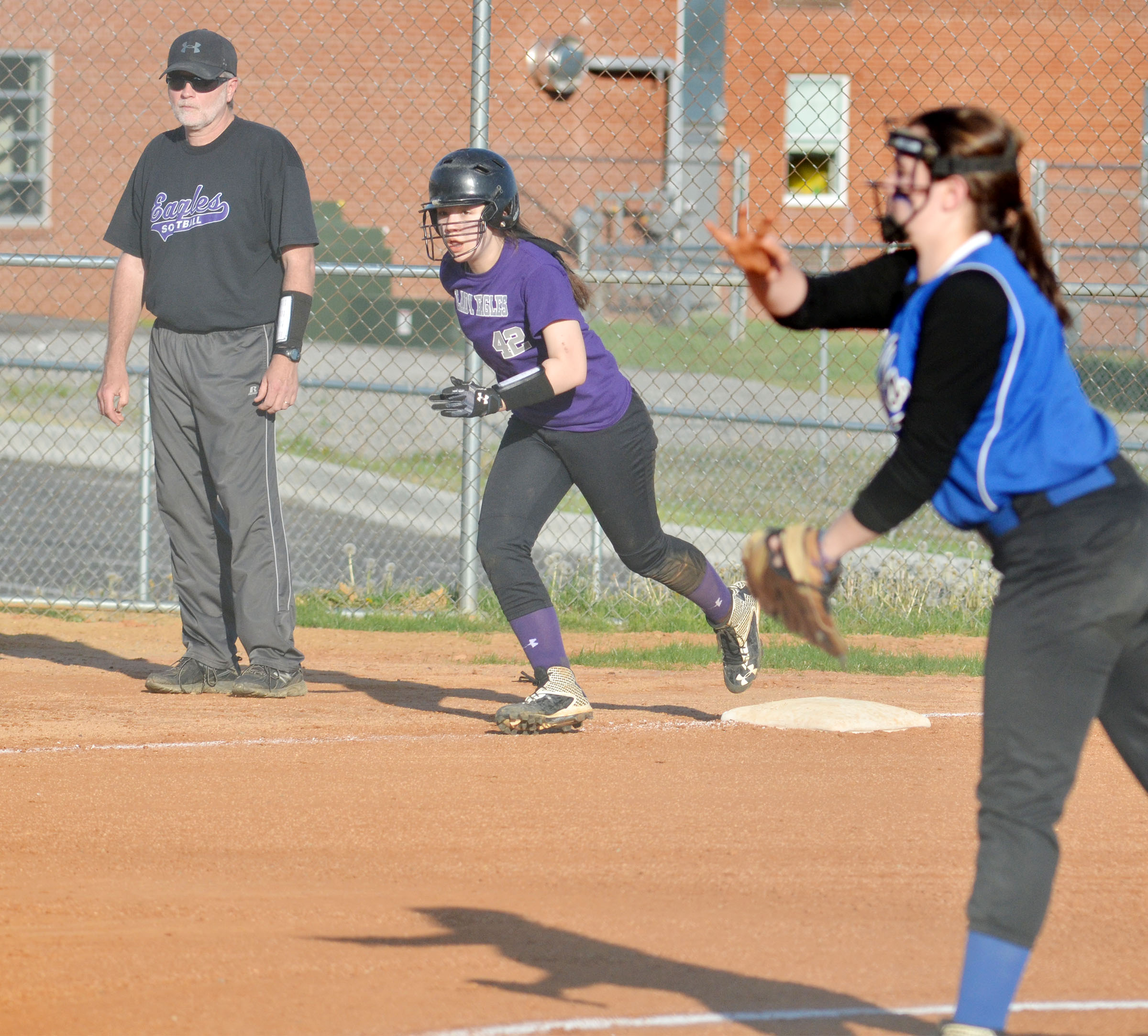 CMS seventh-grader Olivia Fields runs home.