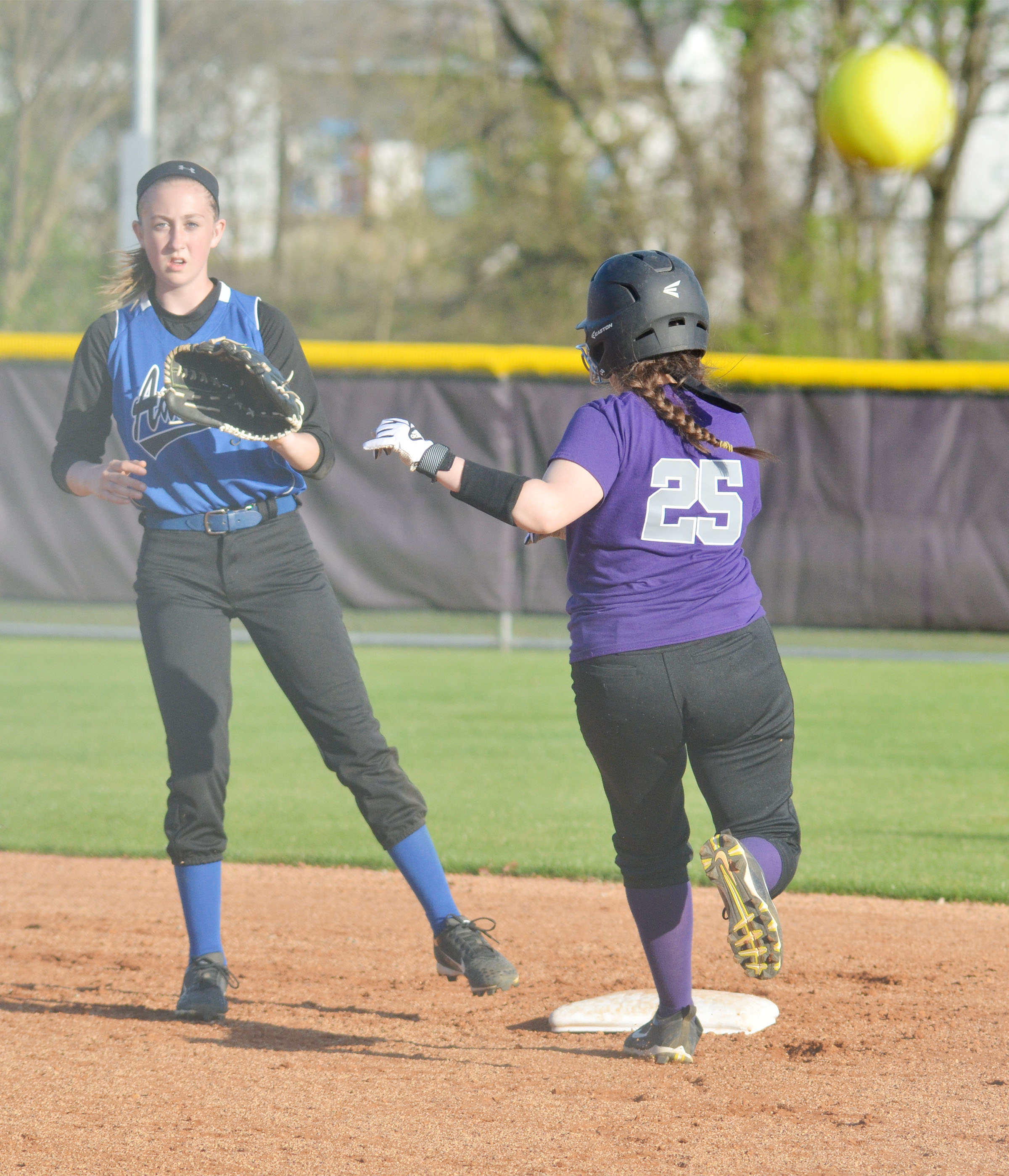 CMS eighth-grader Kaylee Reynolds is safe at second.