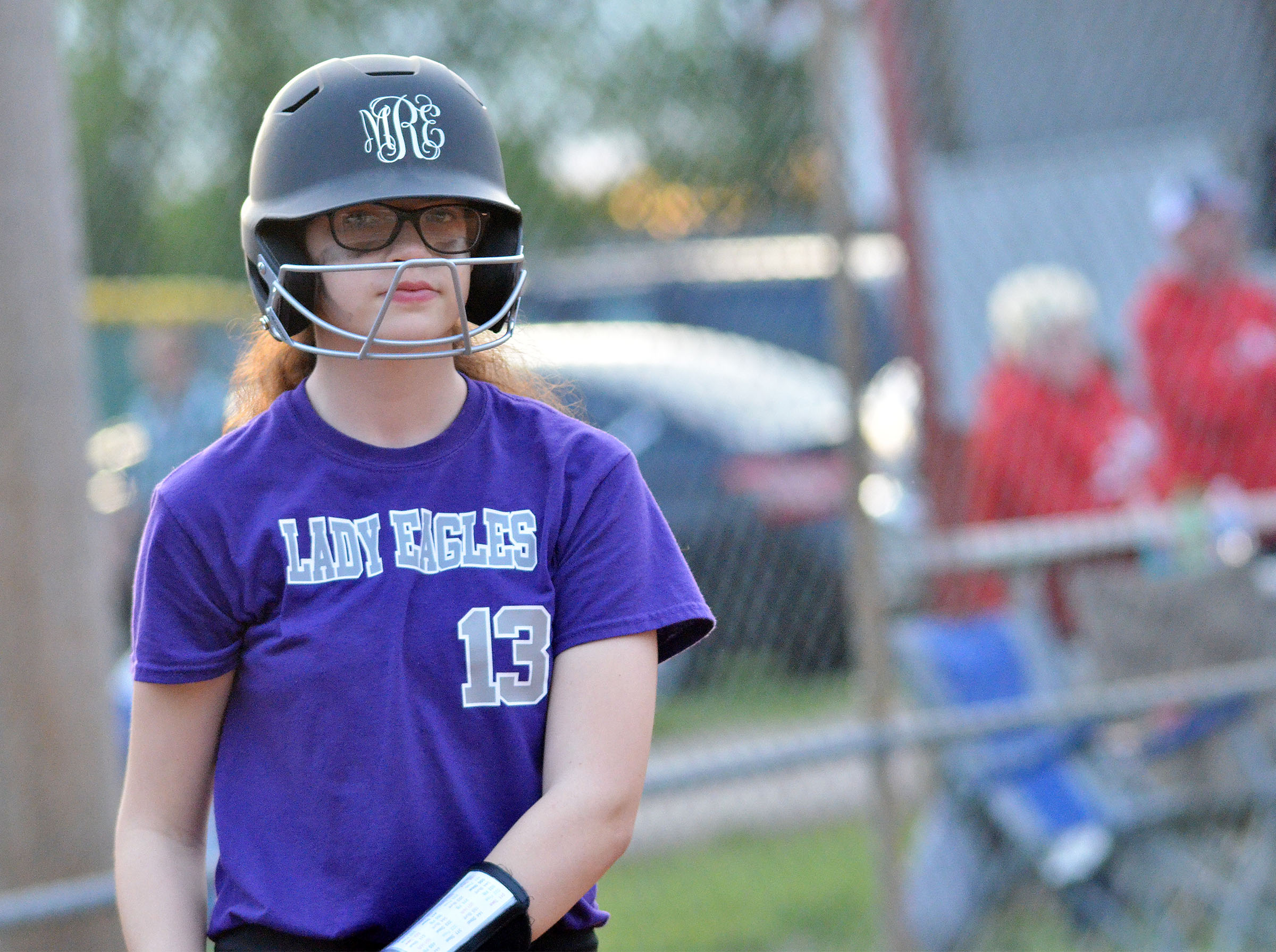 CMS sixth-grader Mary Russell waits to bat.