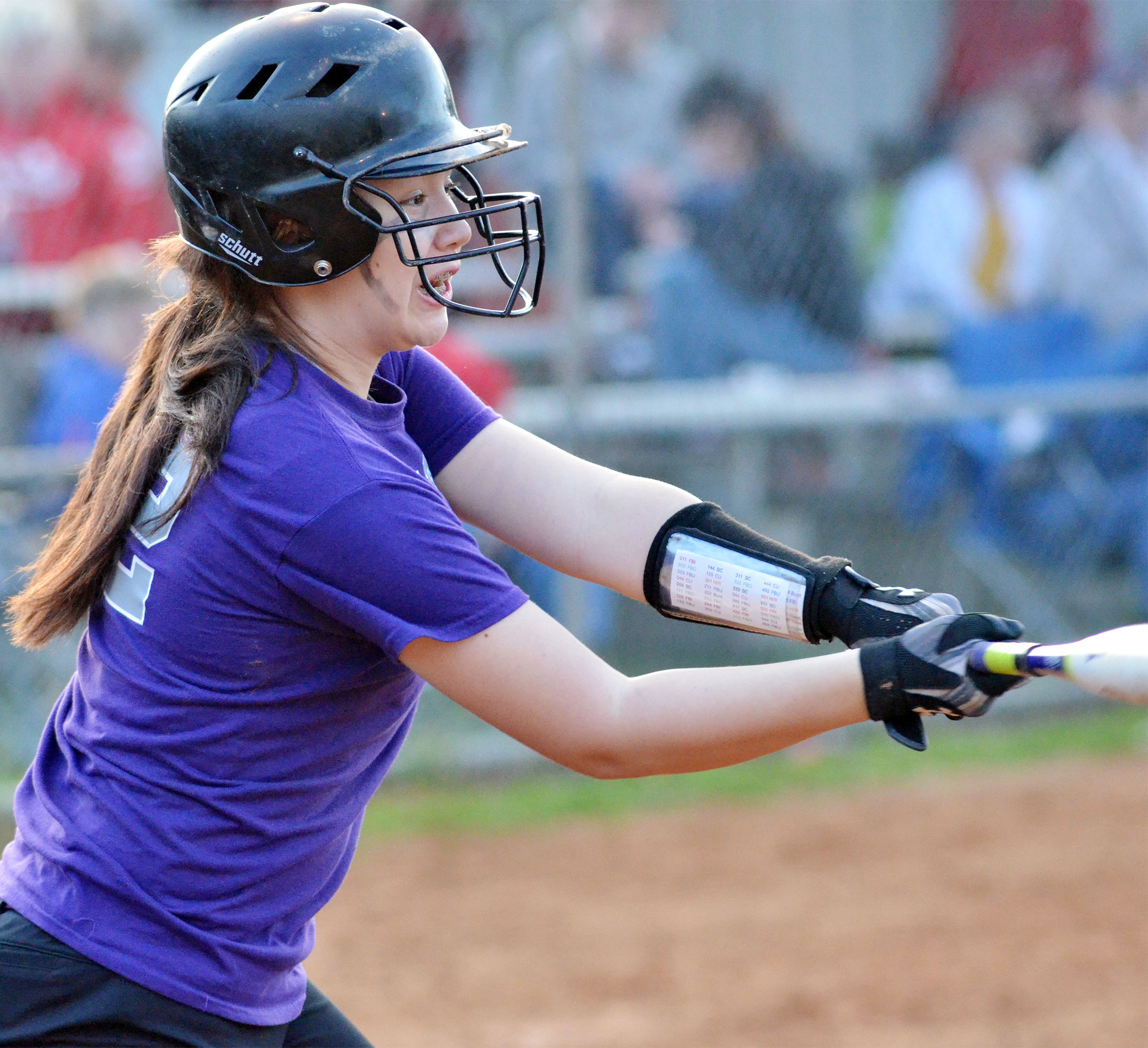 CMS seventh-grader Olivia Fields bats.