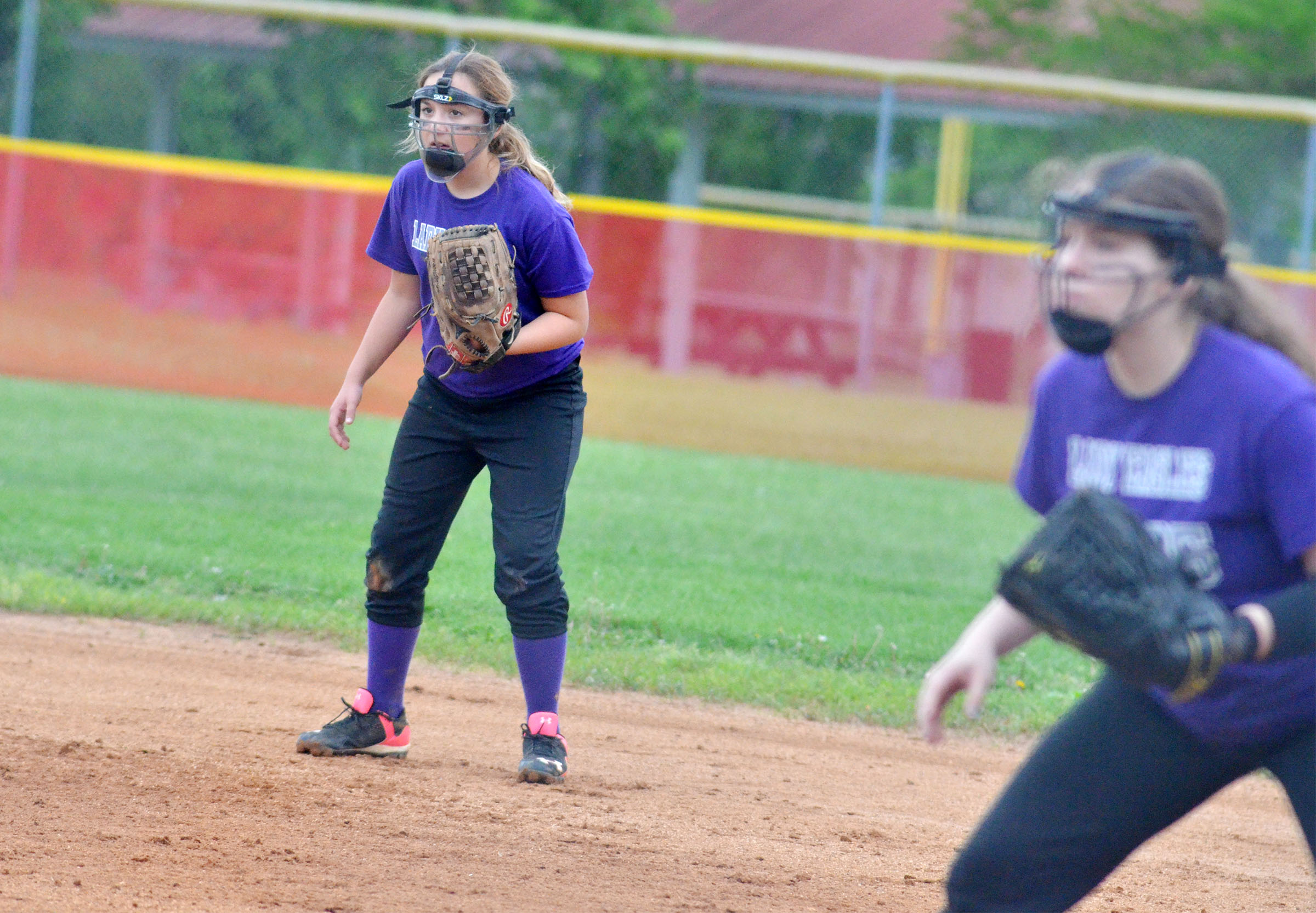 CMS sixth-grader Briana Davis watches the batter.