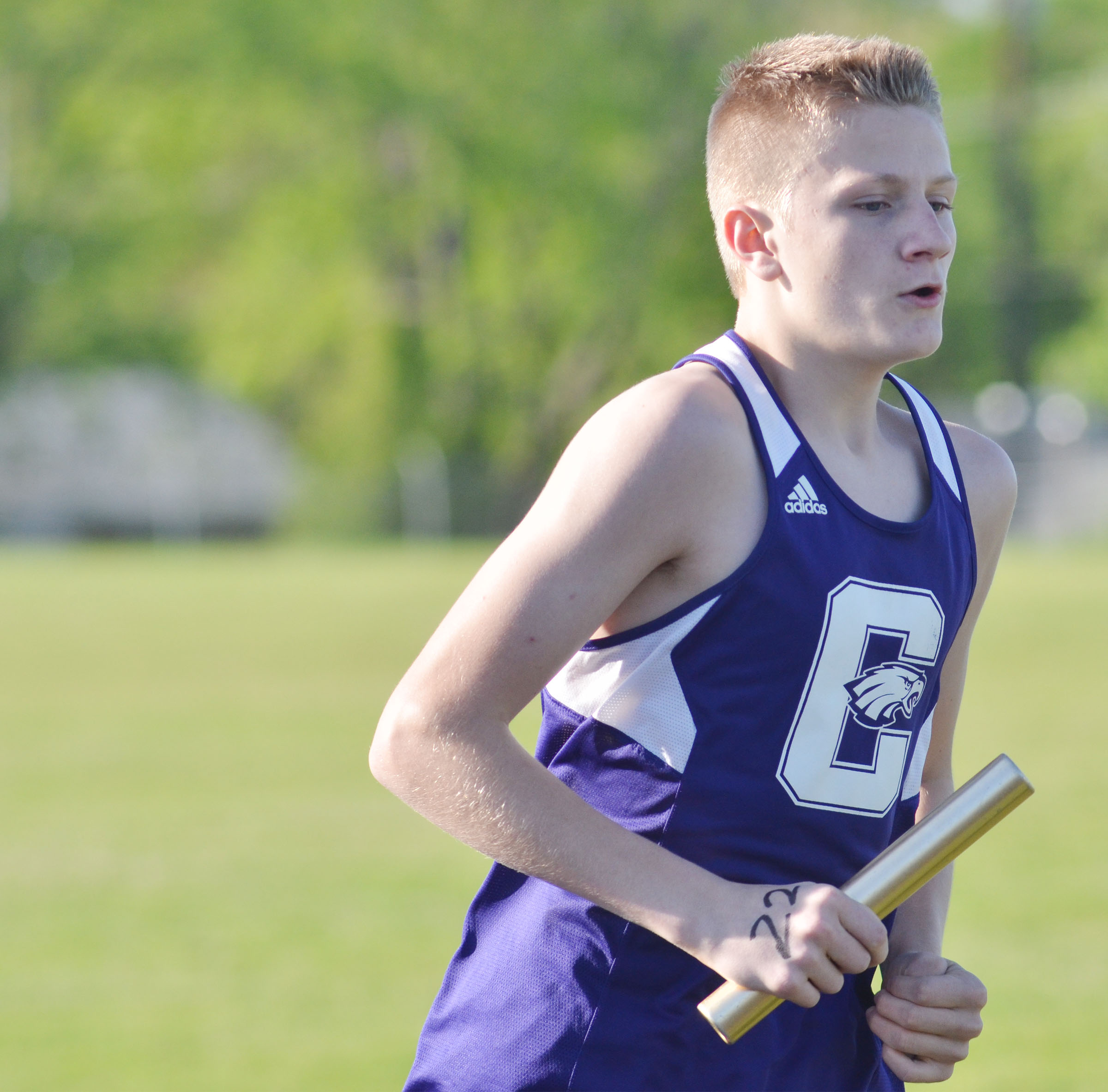 CMS sixth-grader Levi Dicken finished fifth in shot put.