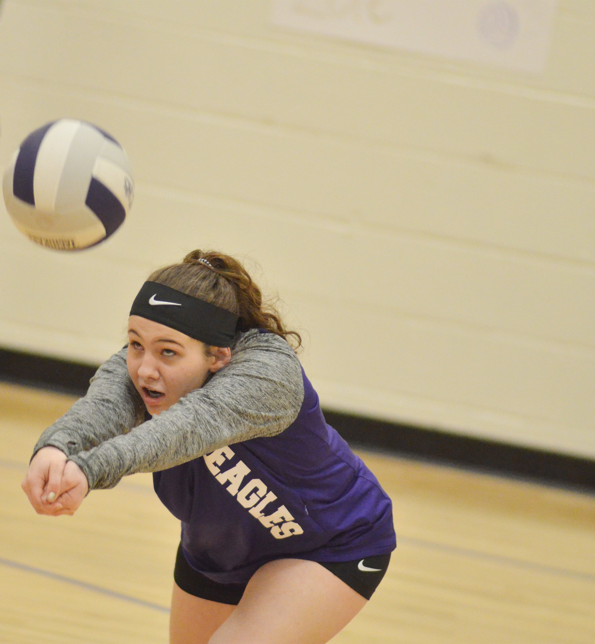 CMS eighth-grader Kaylee Reynolds hits the ball.