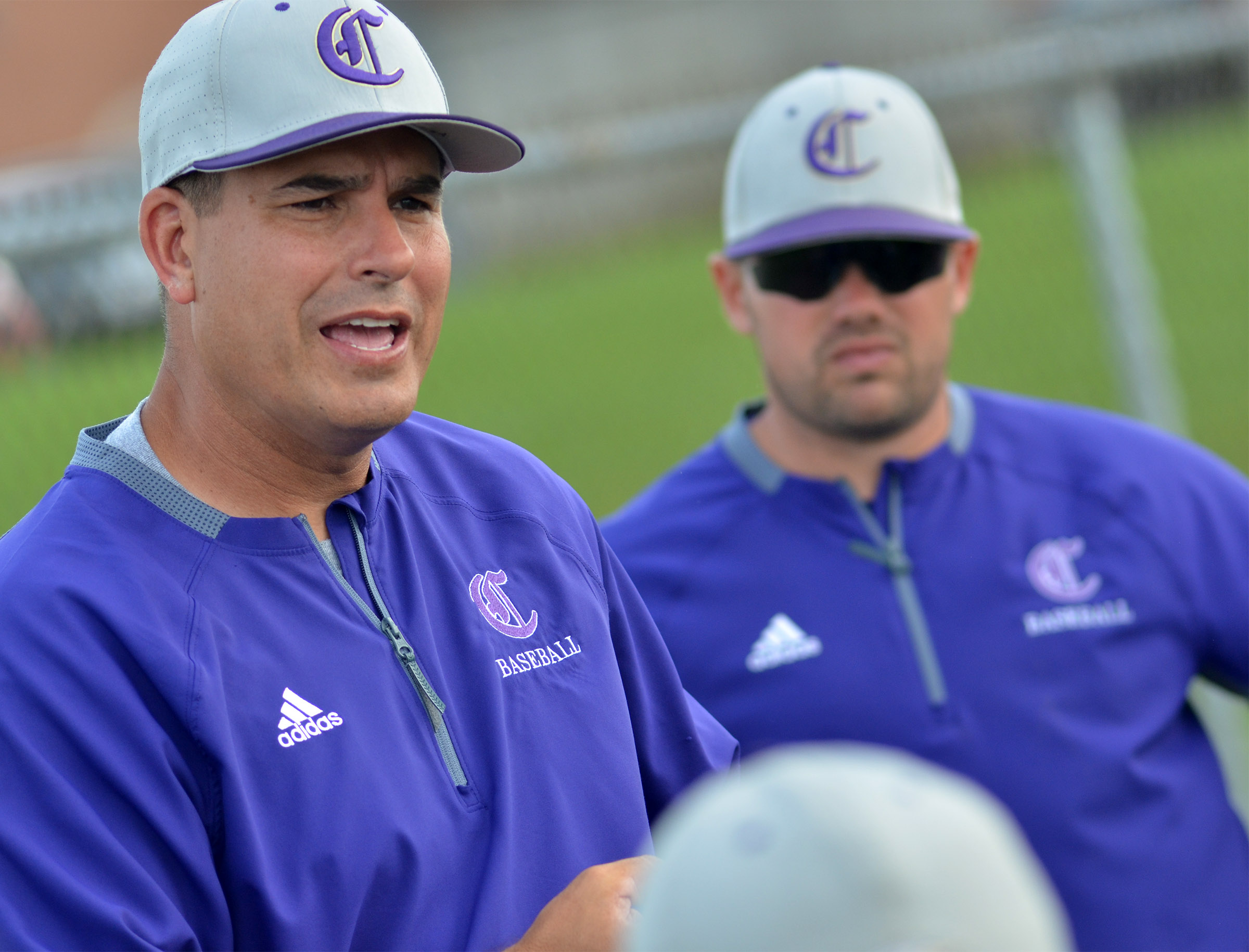 Blake Milby, at right, a former CHS baseball player and assistant coach, has been named head coach. He succeeds Kirby Smith, at left, who coached for 11 years and is now superintendent.