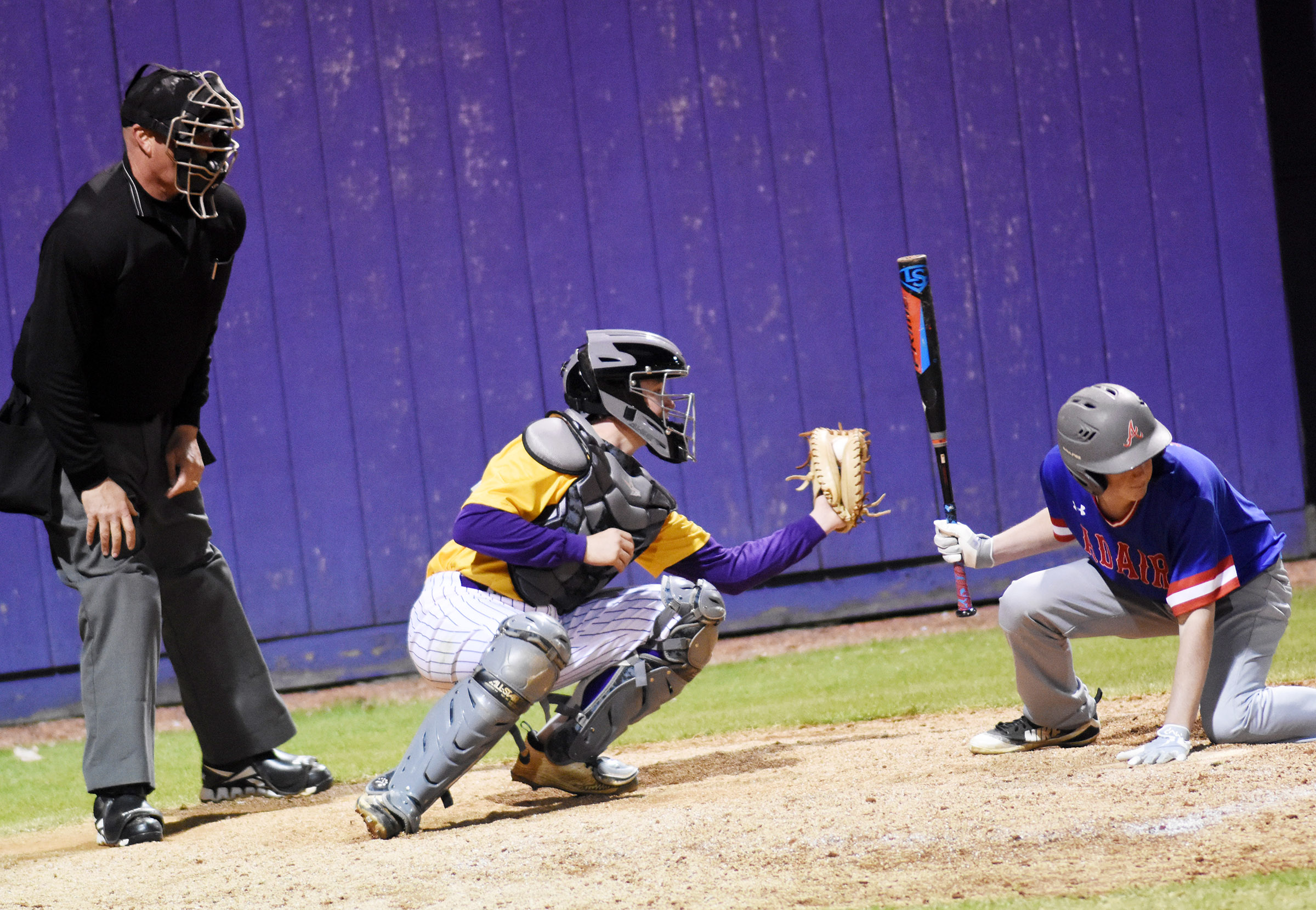CHS sophomore Dillon Whitaker catches for the Eagles.