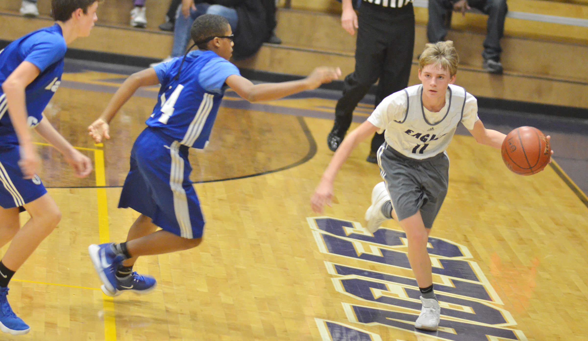 CHS sophomore Cameron Bright dribbles.