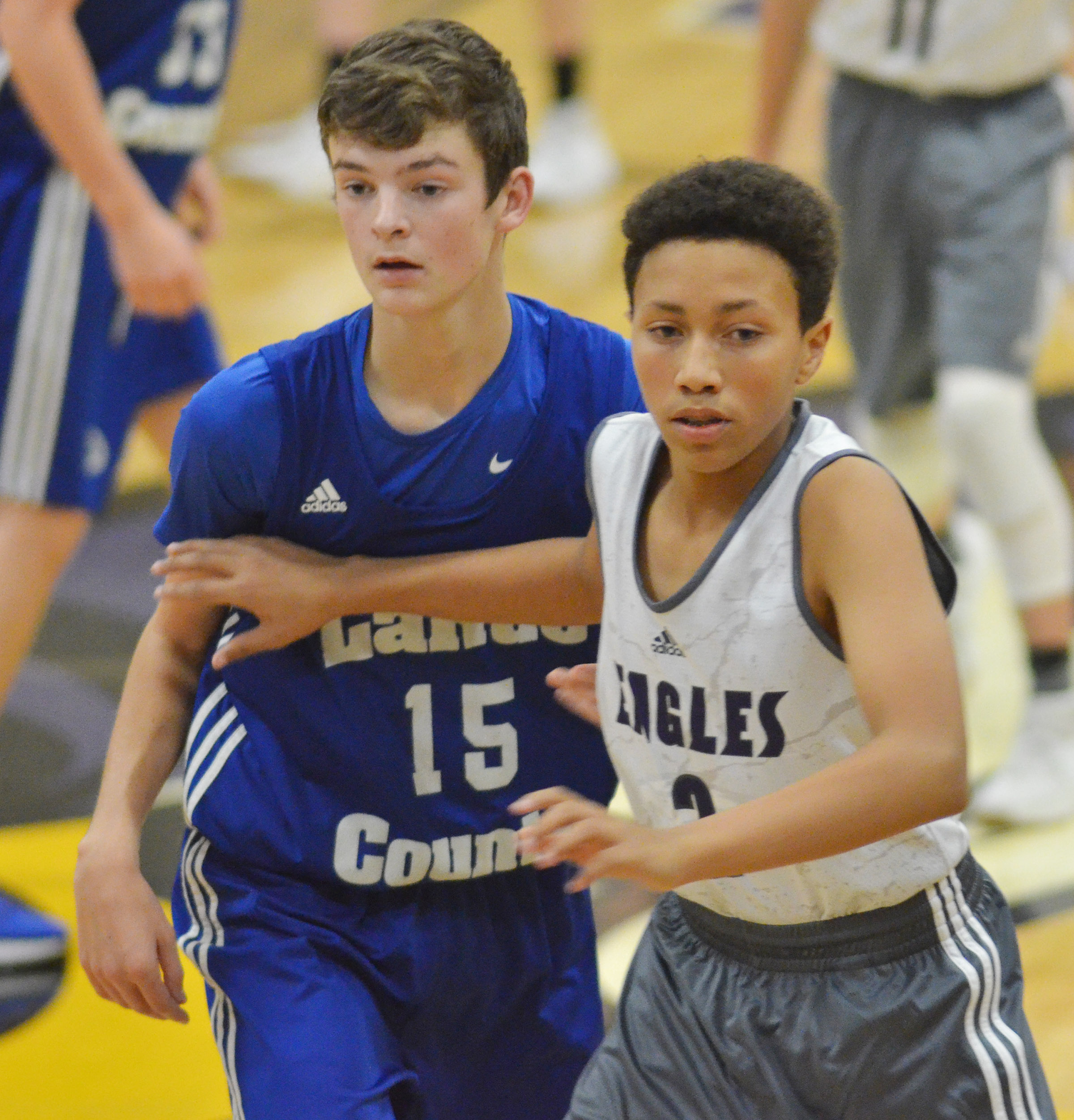 CHS freshman Jastyn Shively plays defense.