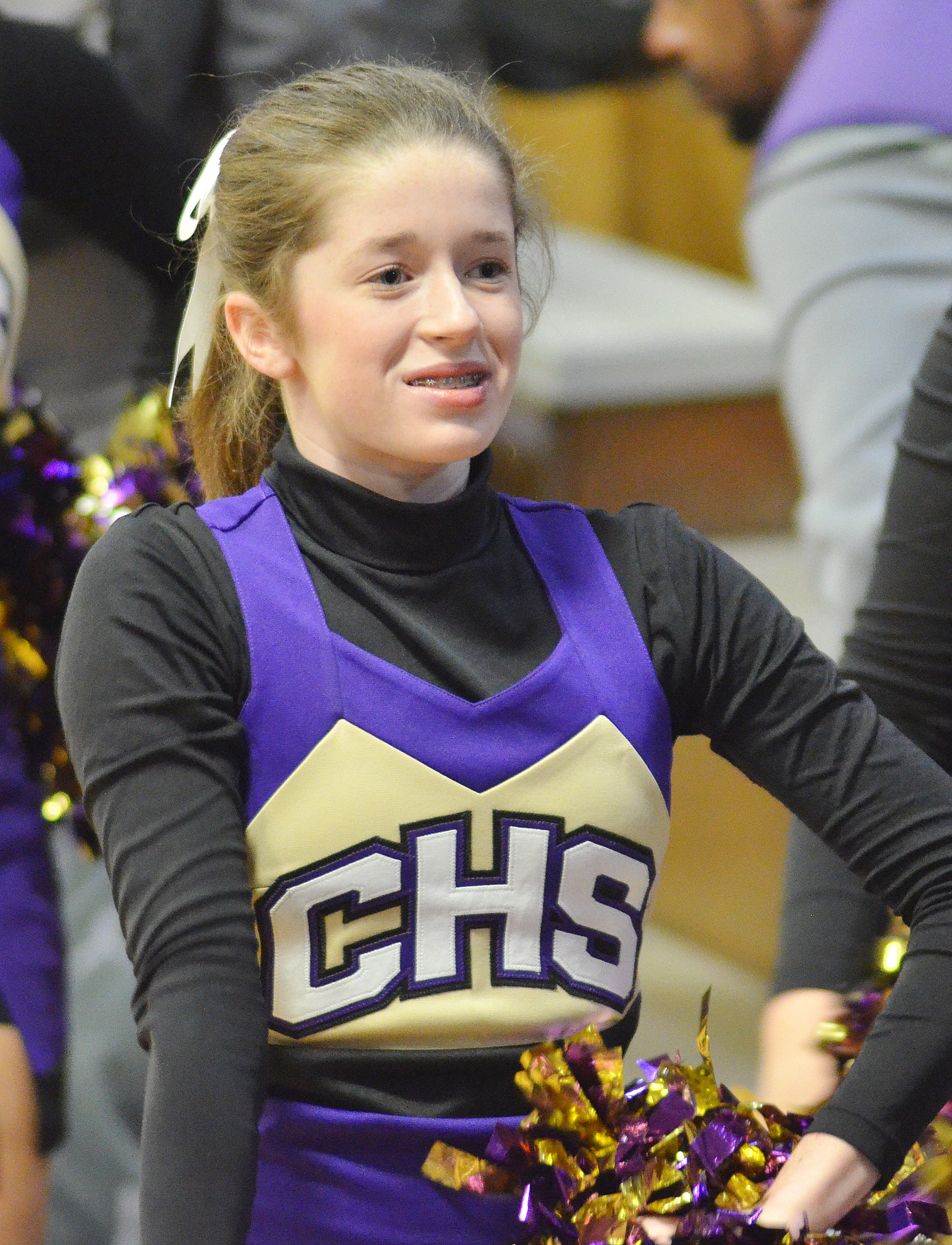 CHS sophomore Gracyne Hash cheers for the Eagles.