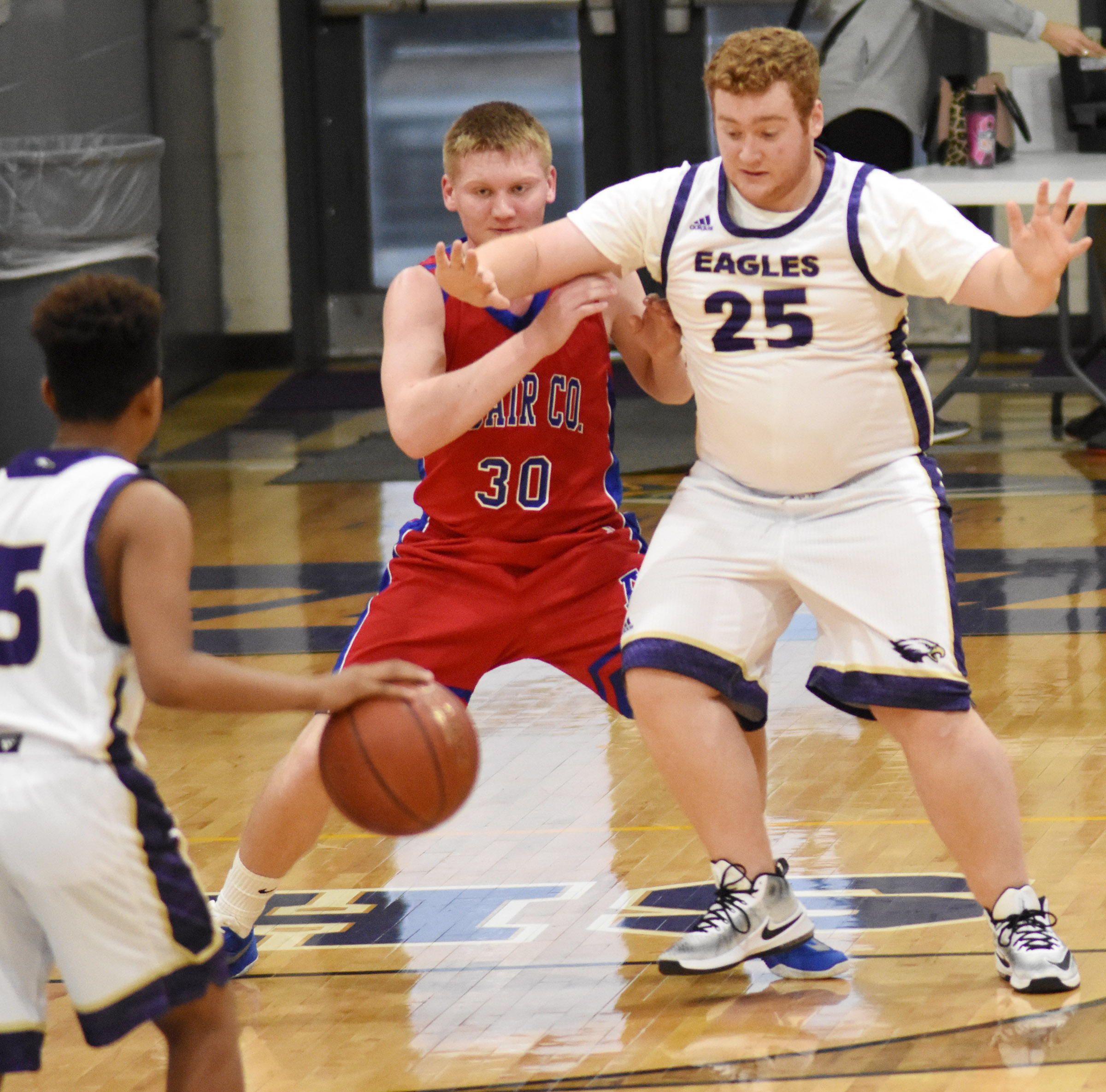 CHS junior Spencer Swafford plays defense.