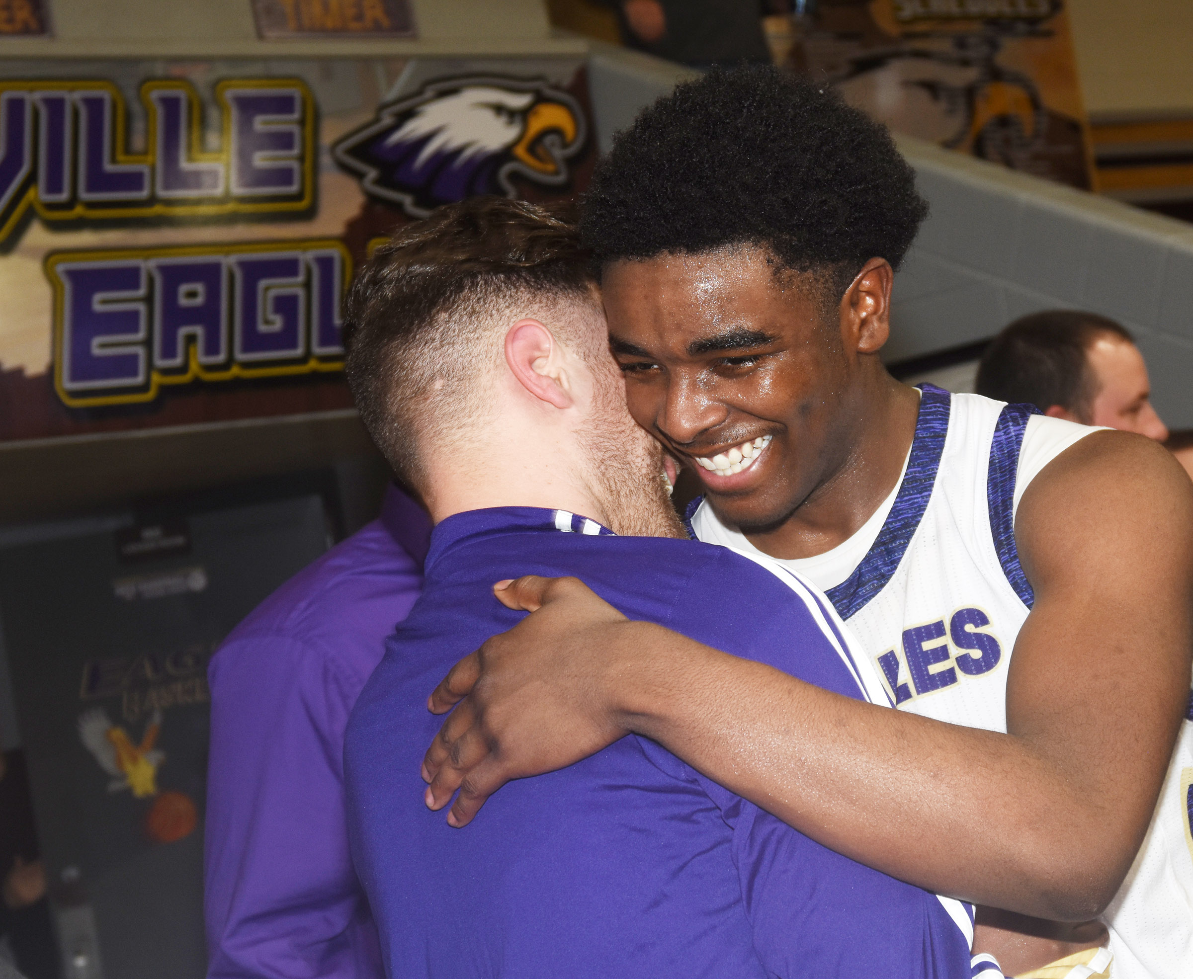 CHS senior Chanson Atkinson receives congratulations after the game.