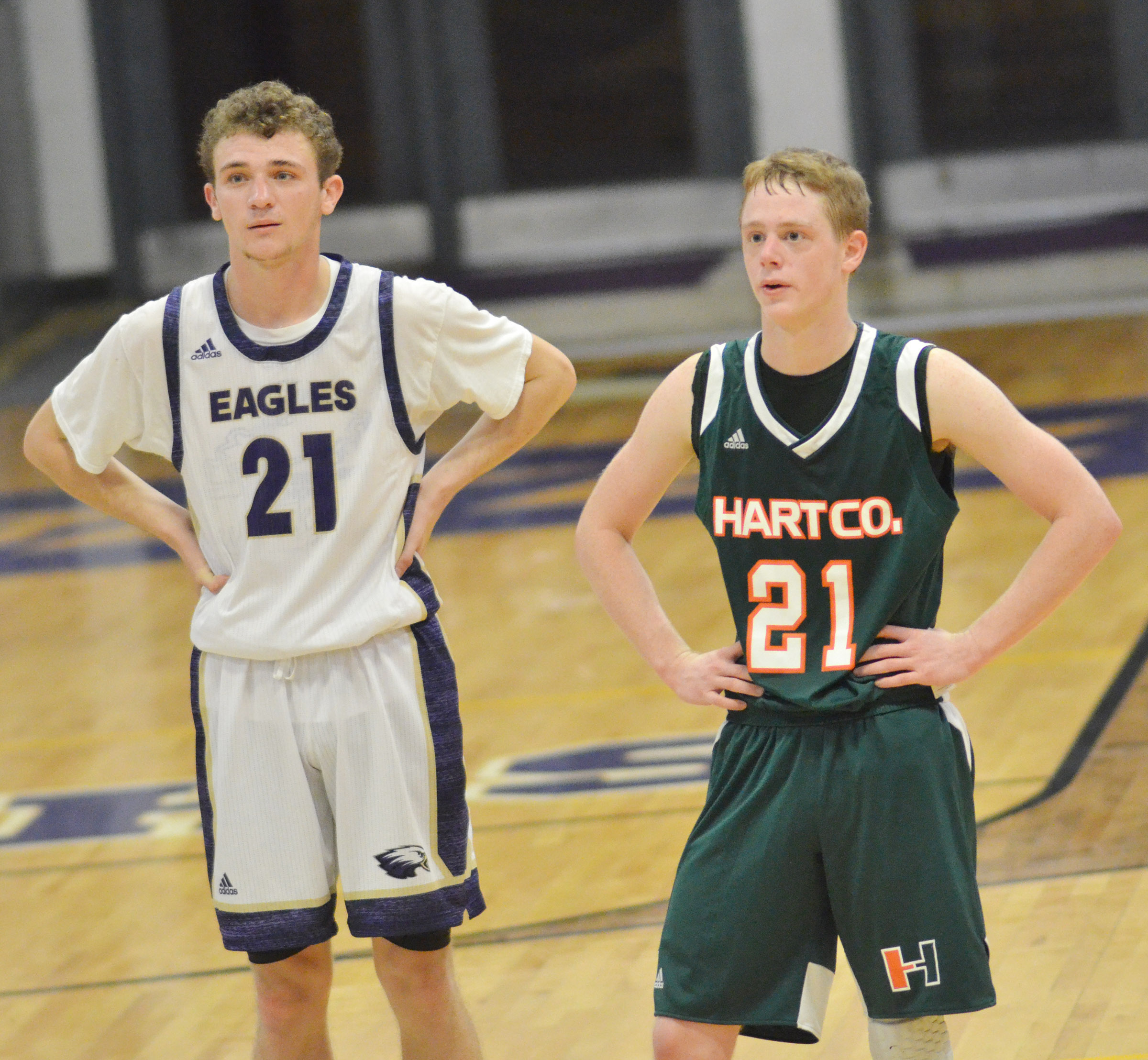 CHS senior Connor Wilson shares a number with a Hart County player.