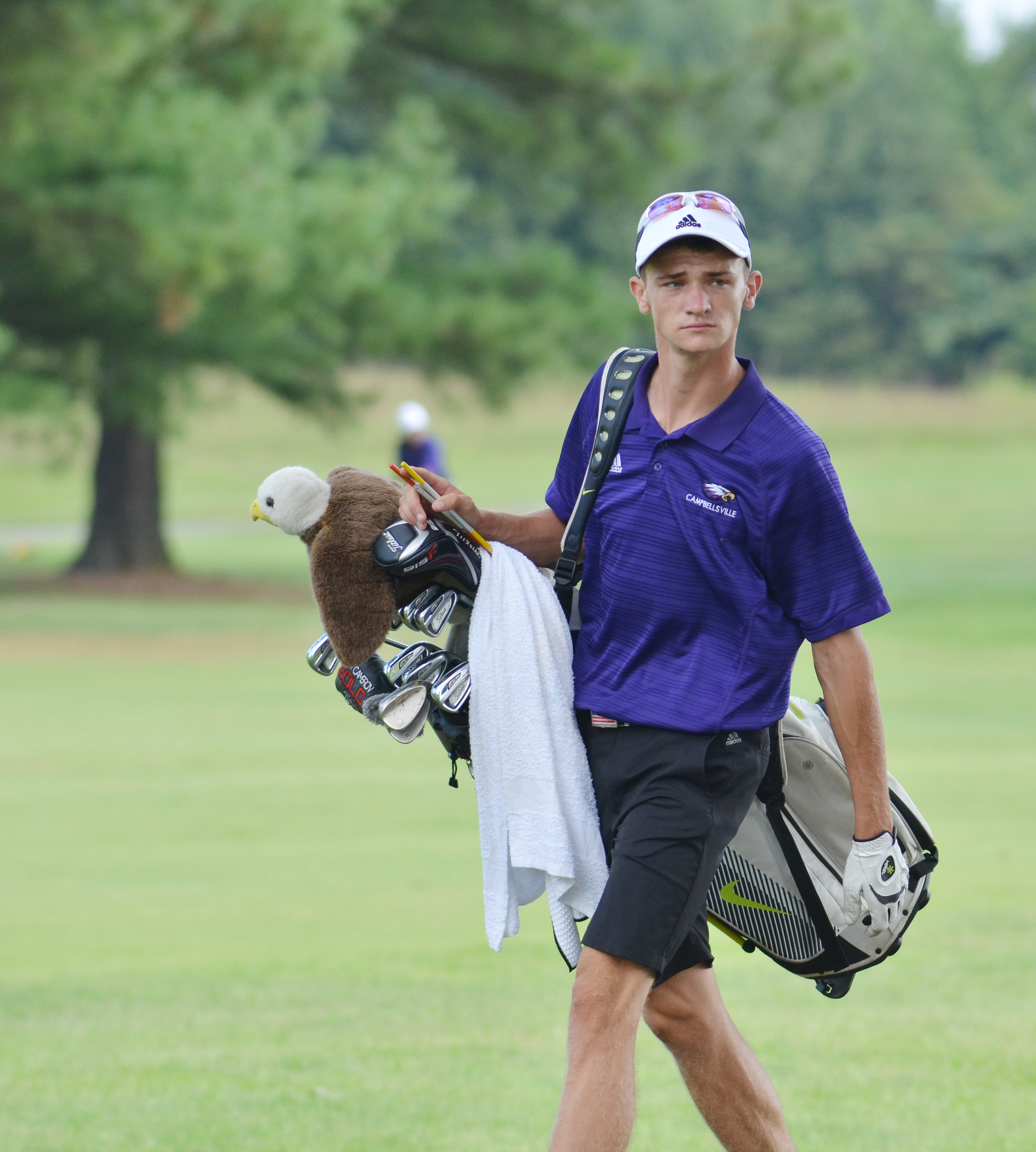 "CHS senior Connor Wilson competes in the All ""A"" region tournament."