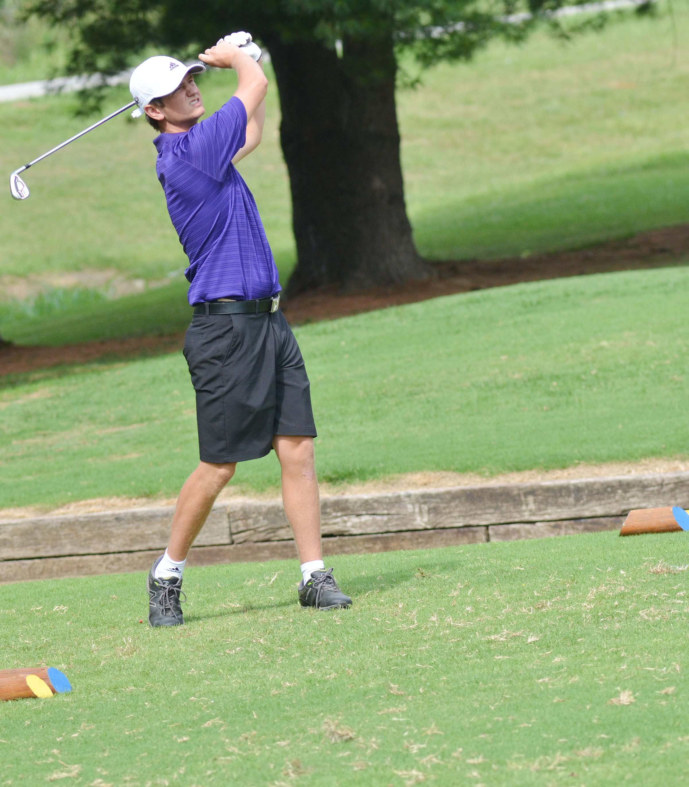 "CHS junior Myles Murrell competes in the All ""A"" region tournament."