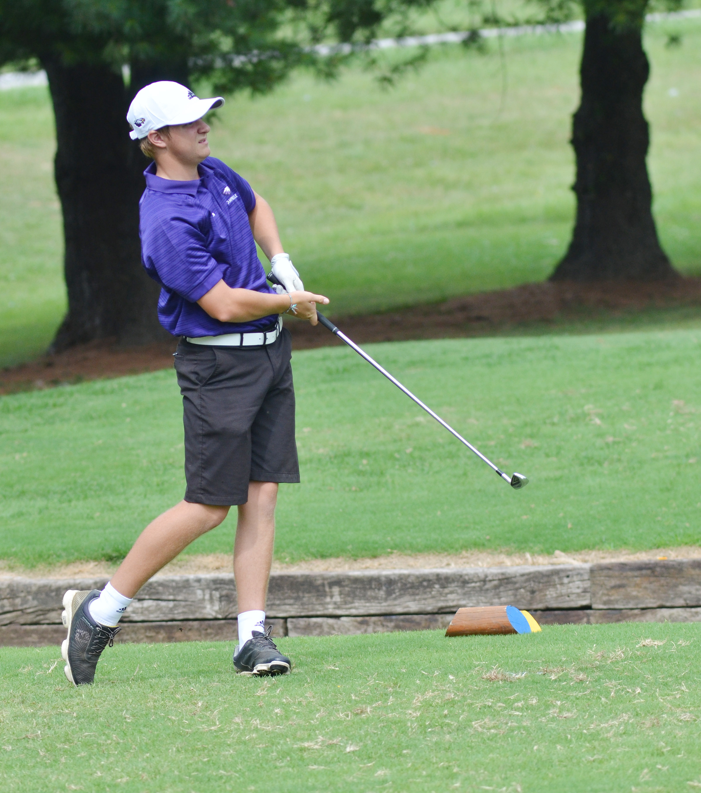 "CHS senior Alex Doss competes in the All ""A' region tournament."