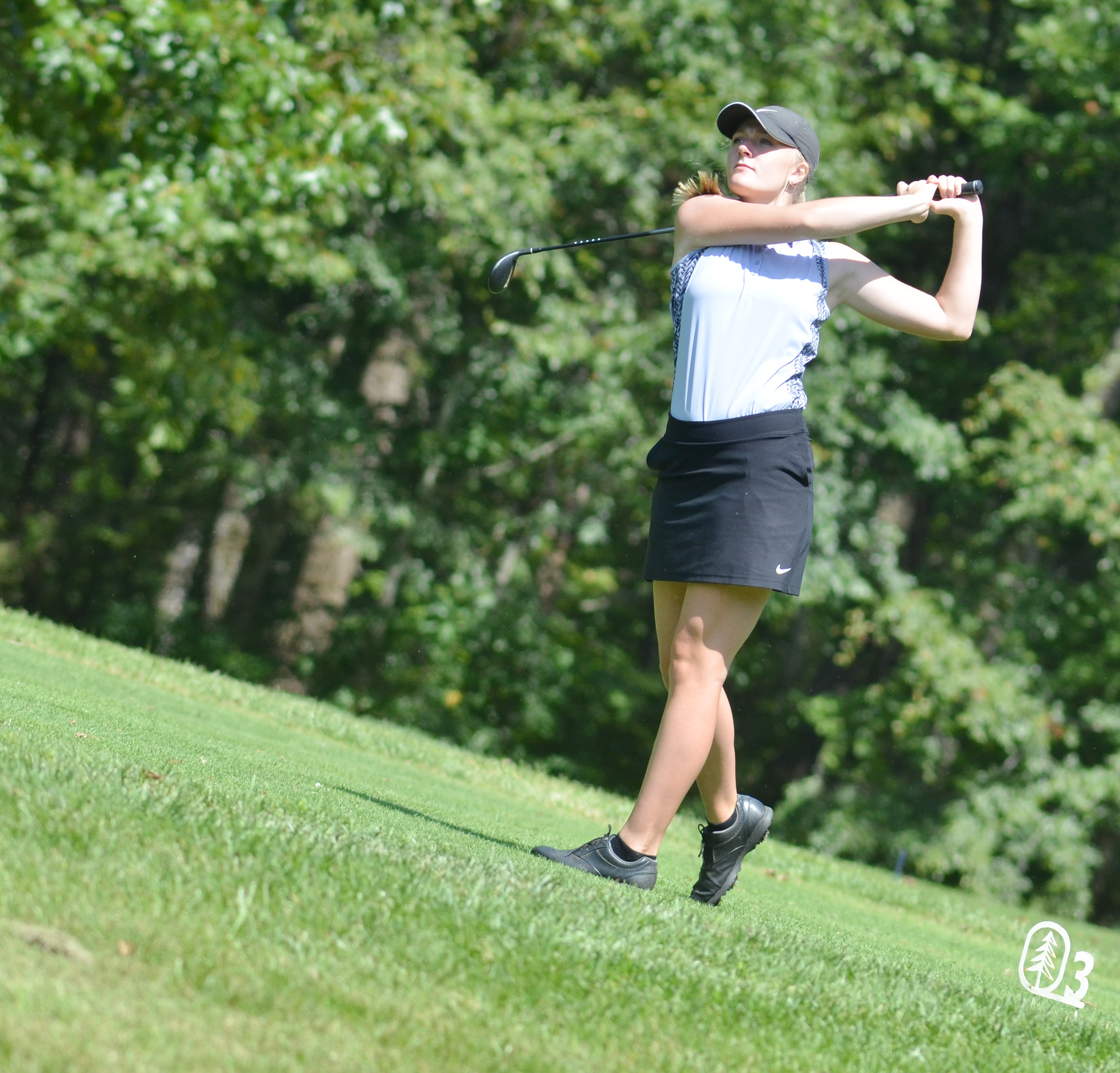 CHS junior Abbie Dicken tees off.