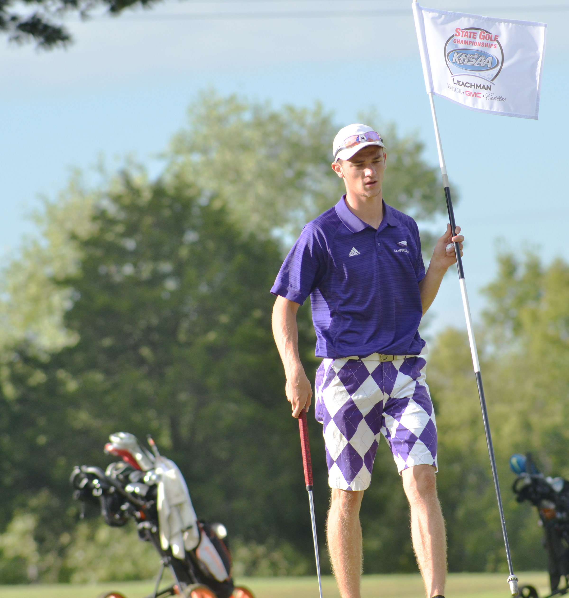CHS senior Connor Wilson gets ready to walk to the next hole.