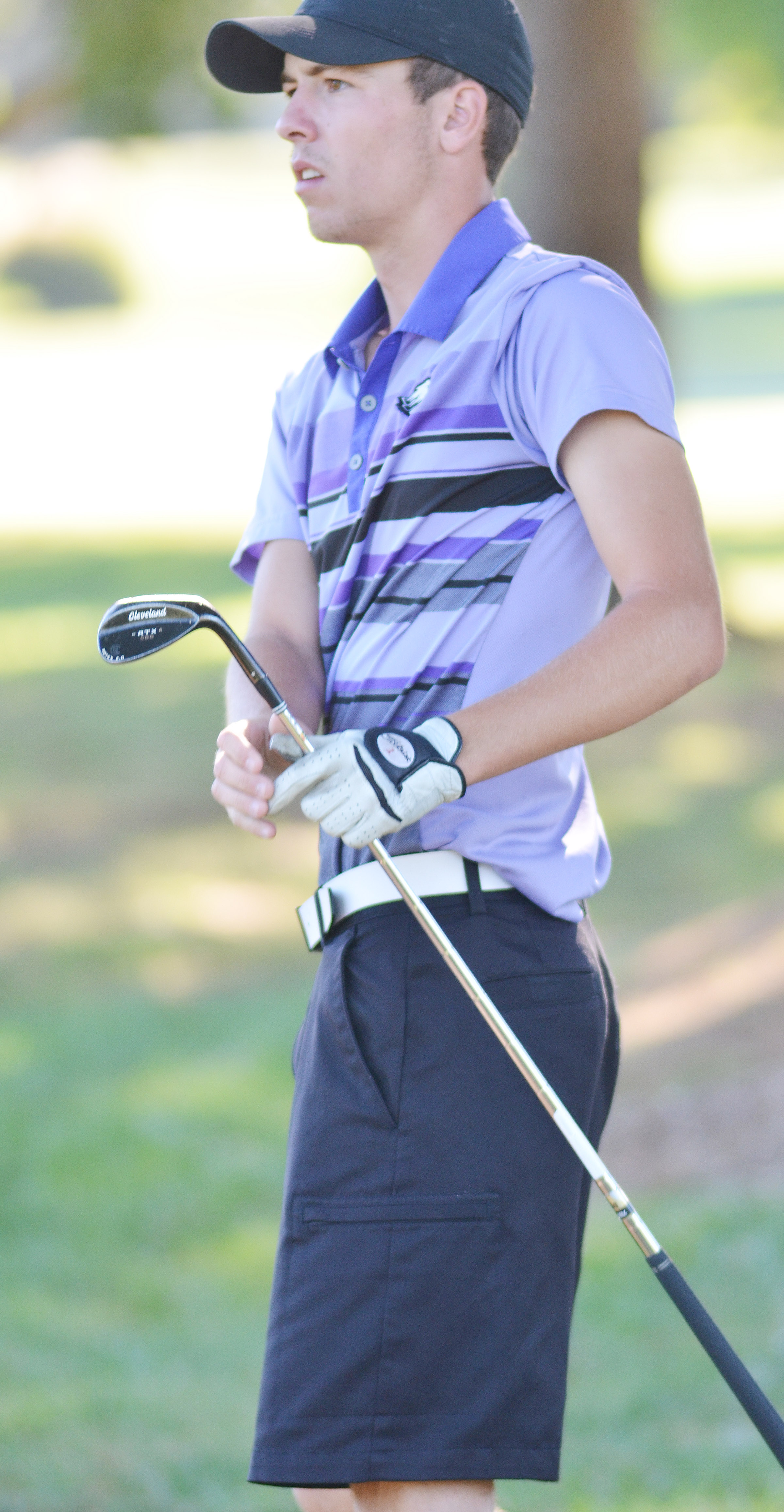 CHS junior Layton Hord watches his ball.