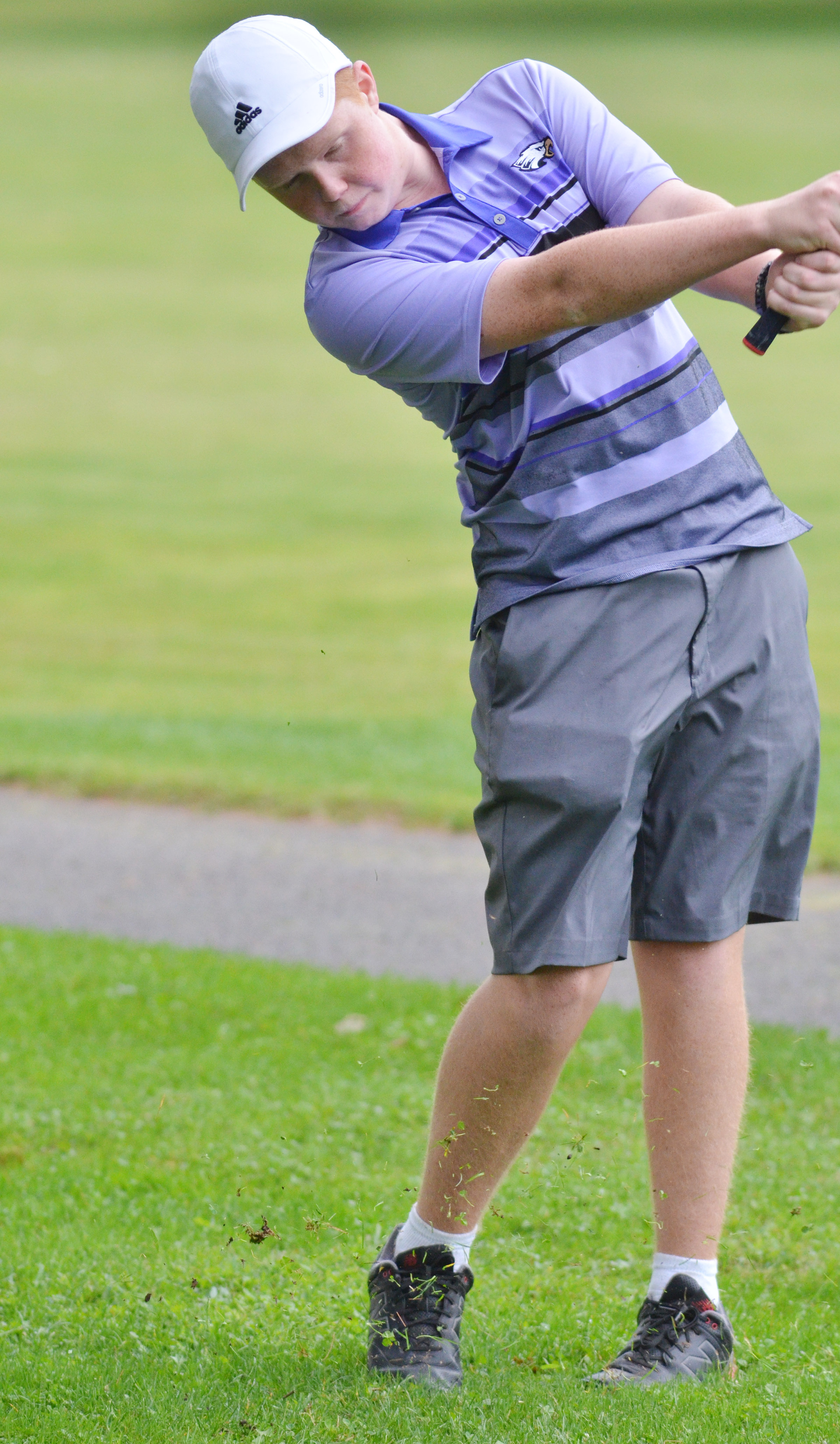 CHS freshman Colin Harris takes a swing.