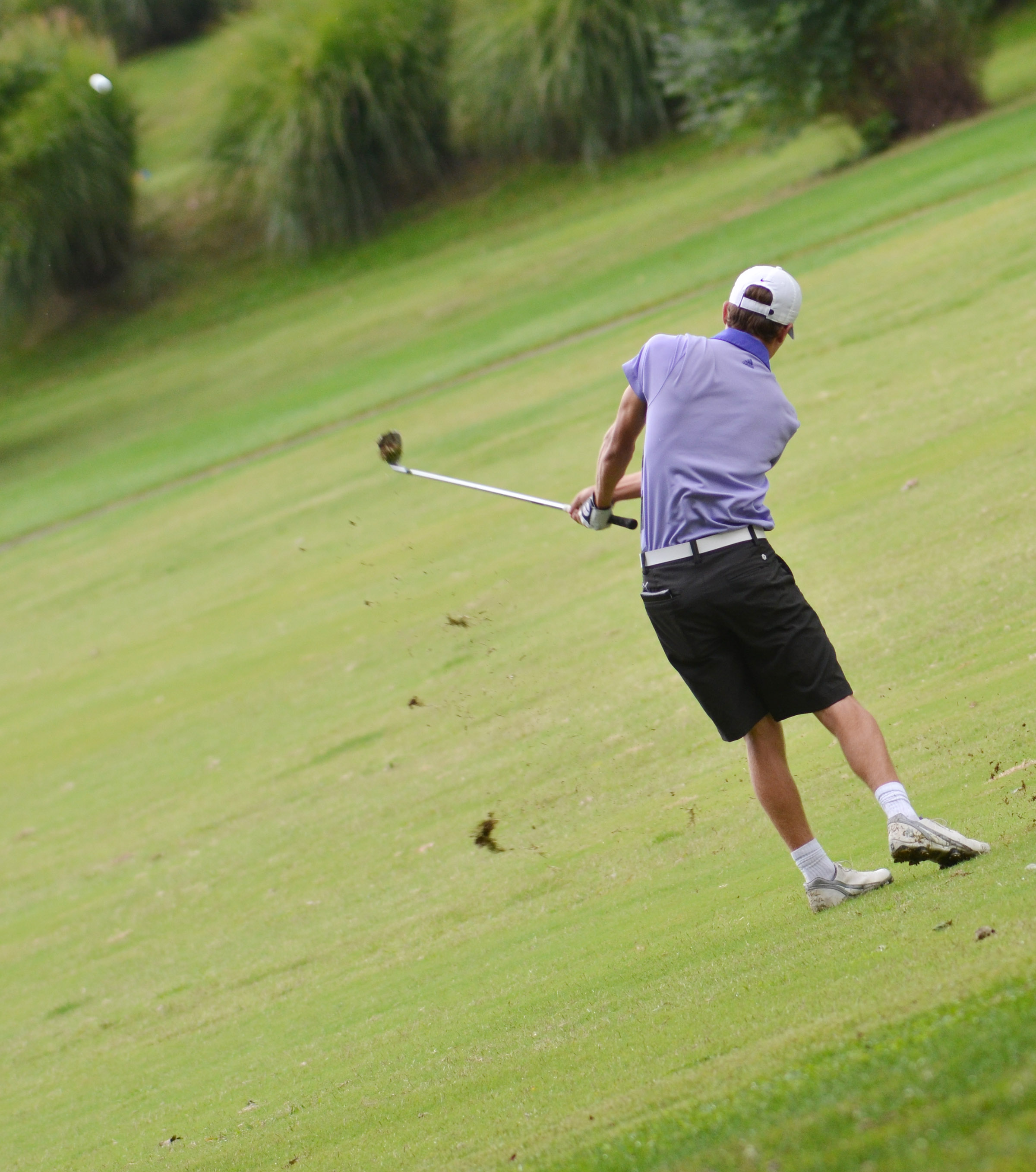 CHS junior Layton Hord hits the ball.