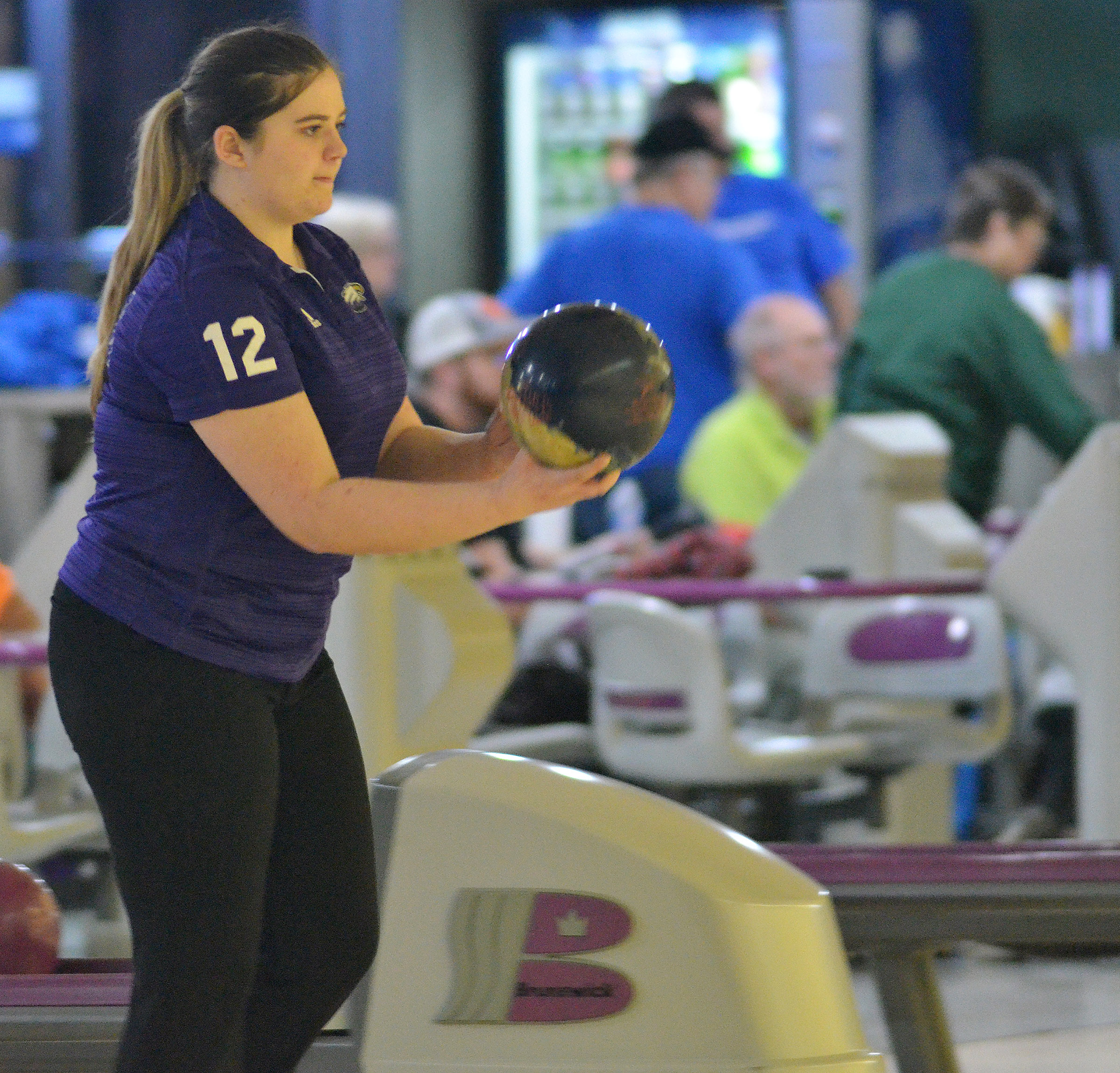 CHS senior Vivian Brown bowls.