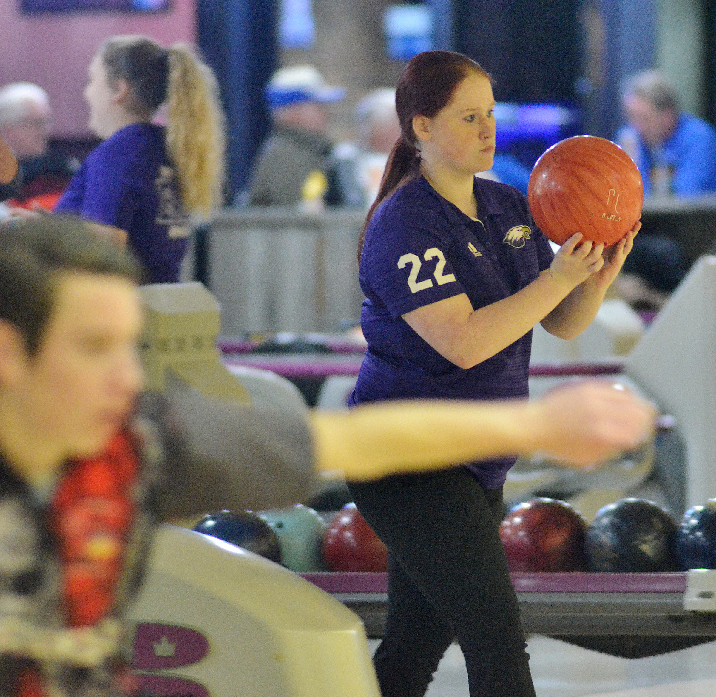 CHS junior Gracie Miller bowls.