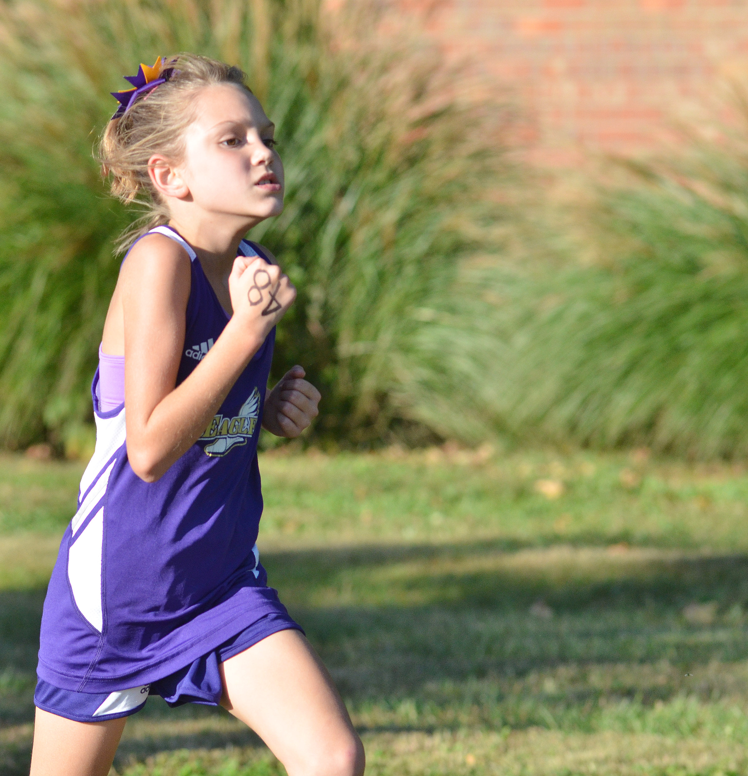 CES third-grader Baylee Pike runs.