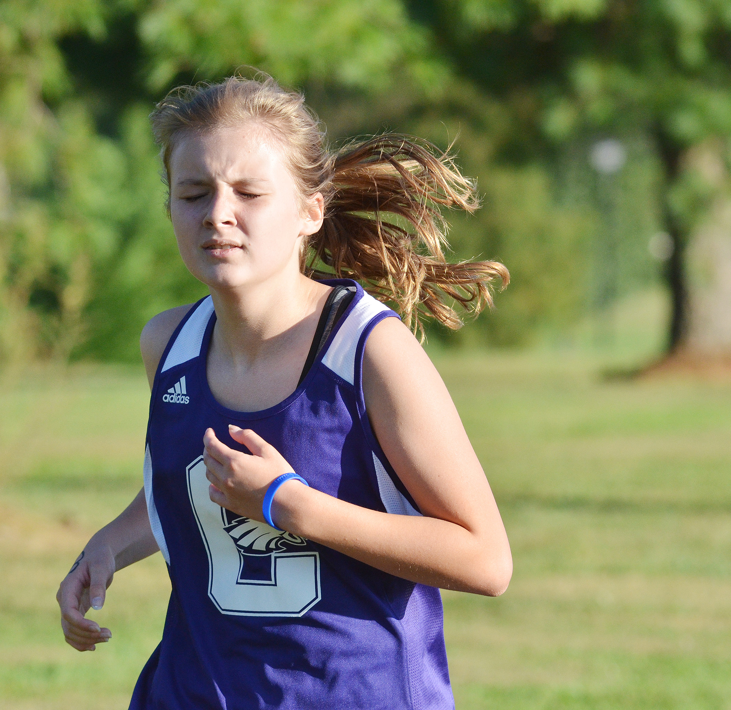 CMS eighth-grader Serenity Ford runs.