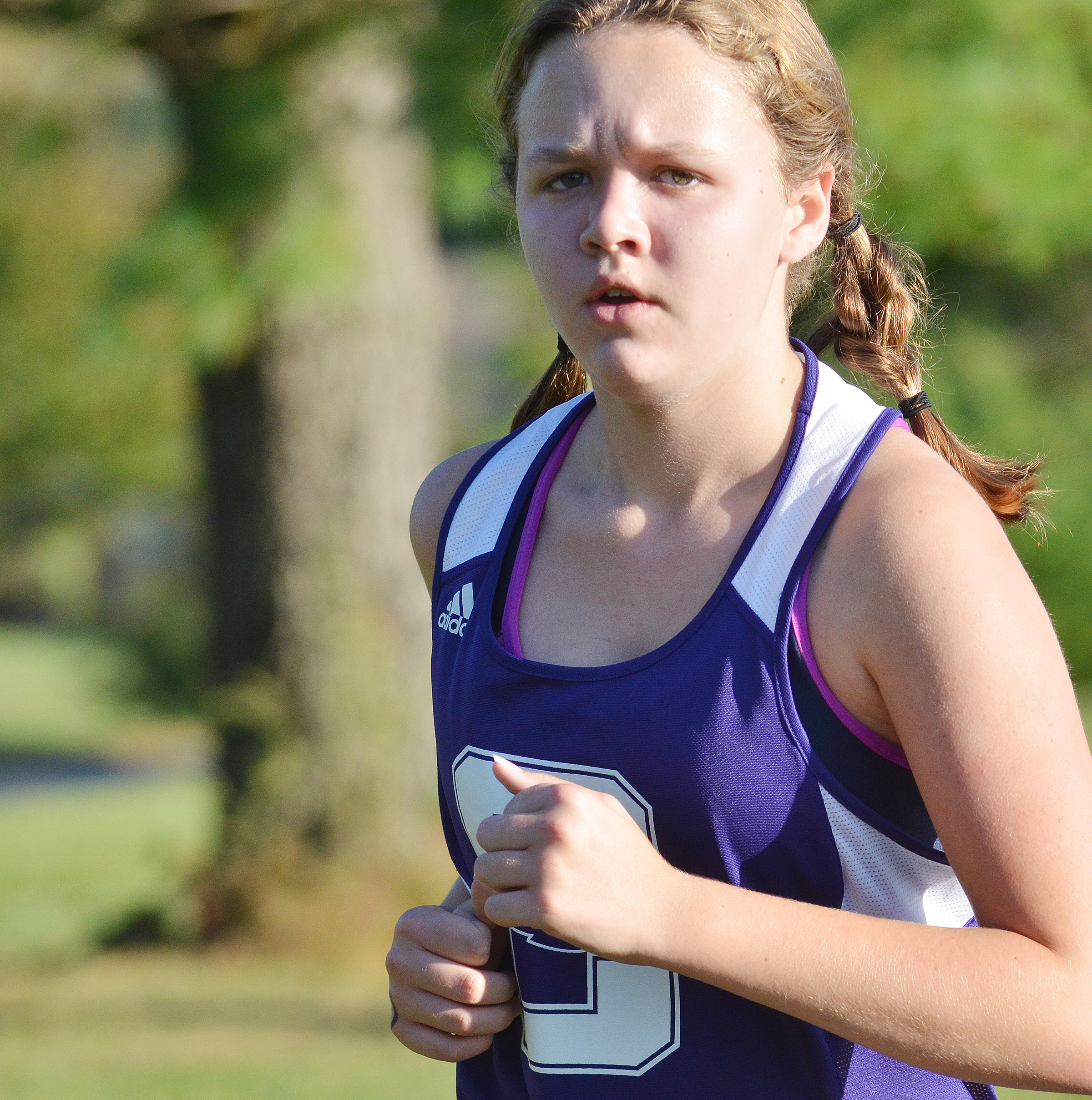 CMS seventh-grader MaCayla Falls runs.