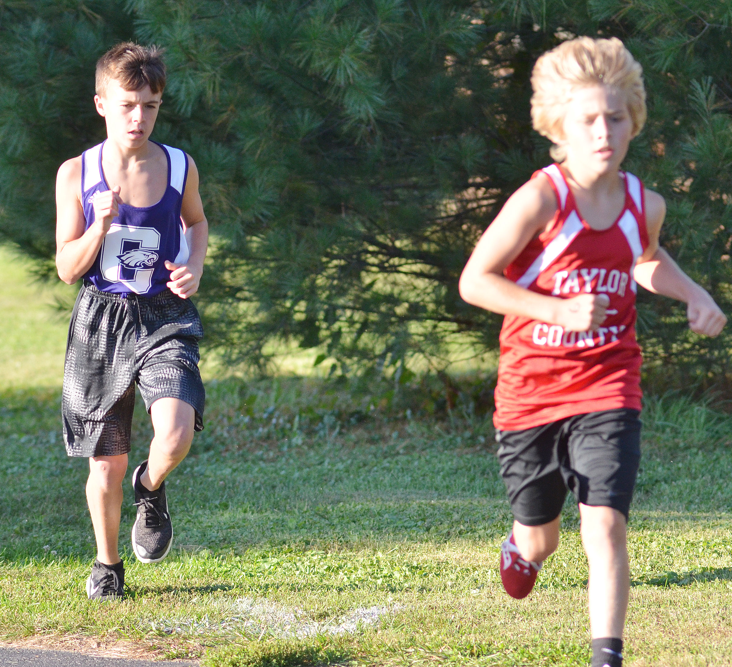 CMS seventh-grader Chase Hord runs.