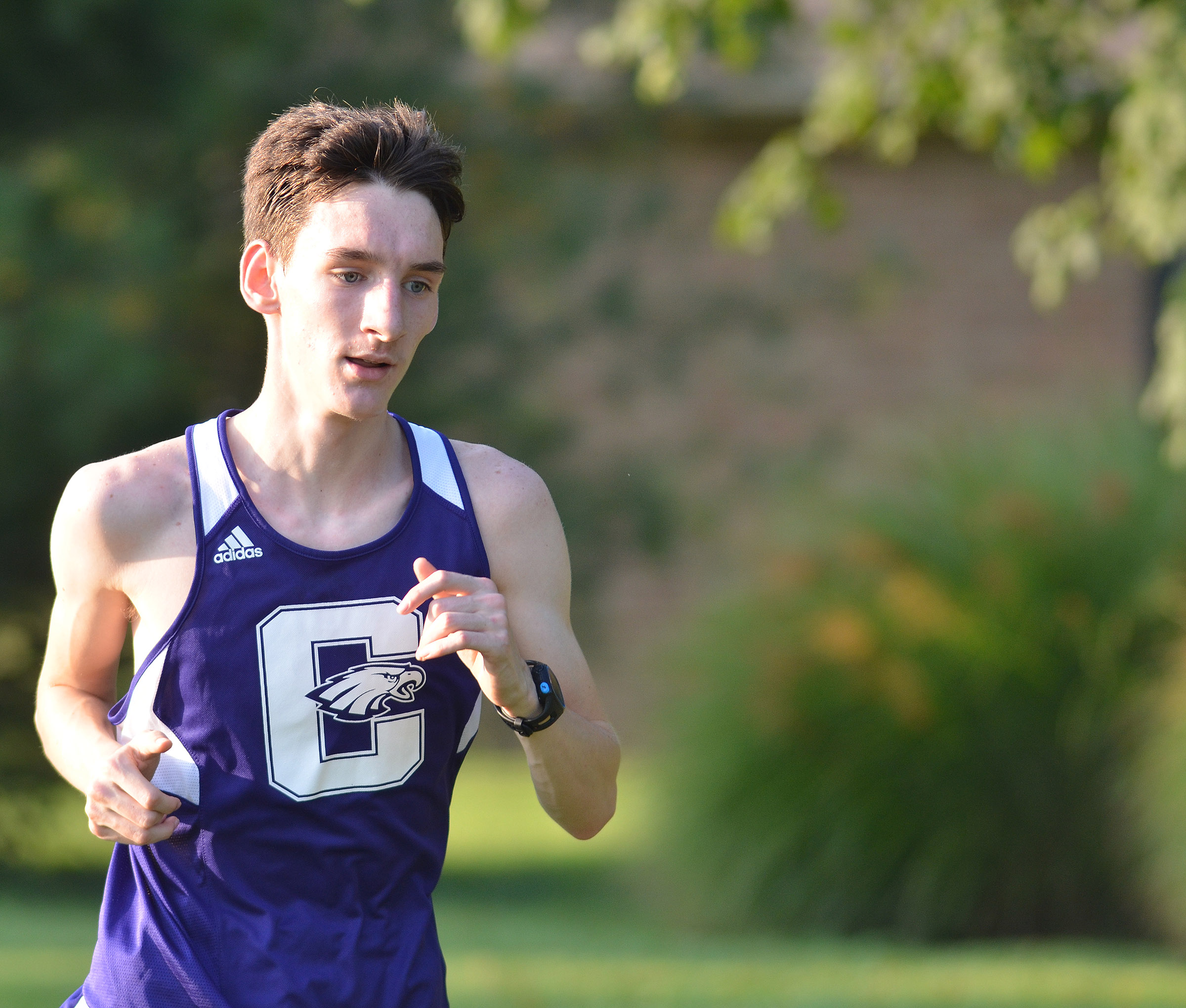 CHS junior Ian McAninch runs.
