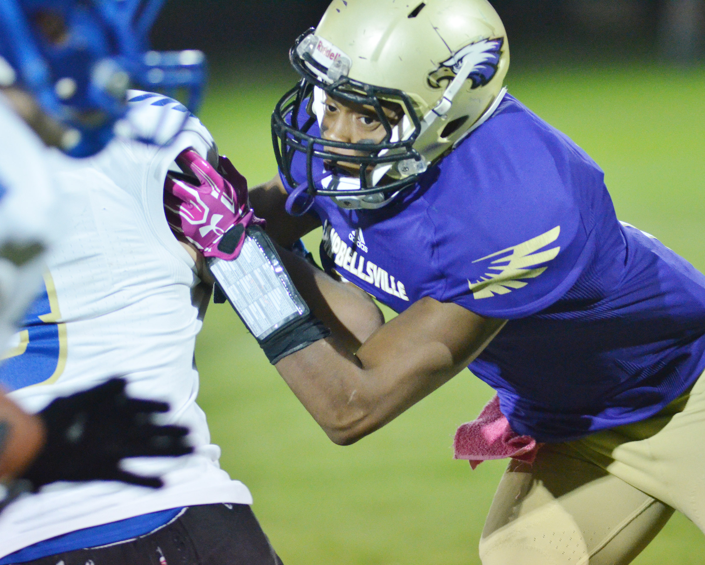 CHS senior Devonte Cubit tackles.