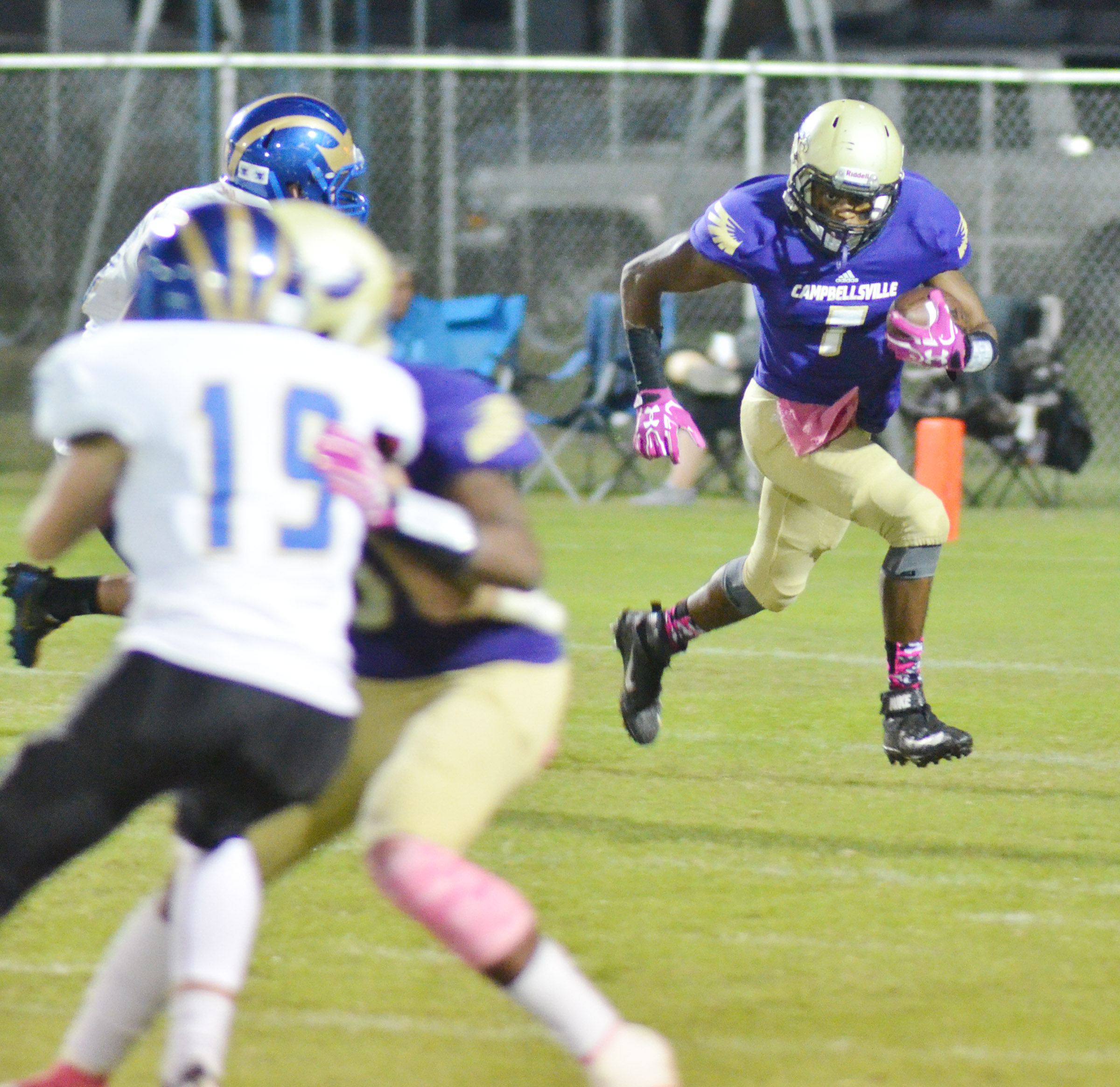 CHS senior Devonte Cubit runs the ball.