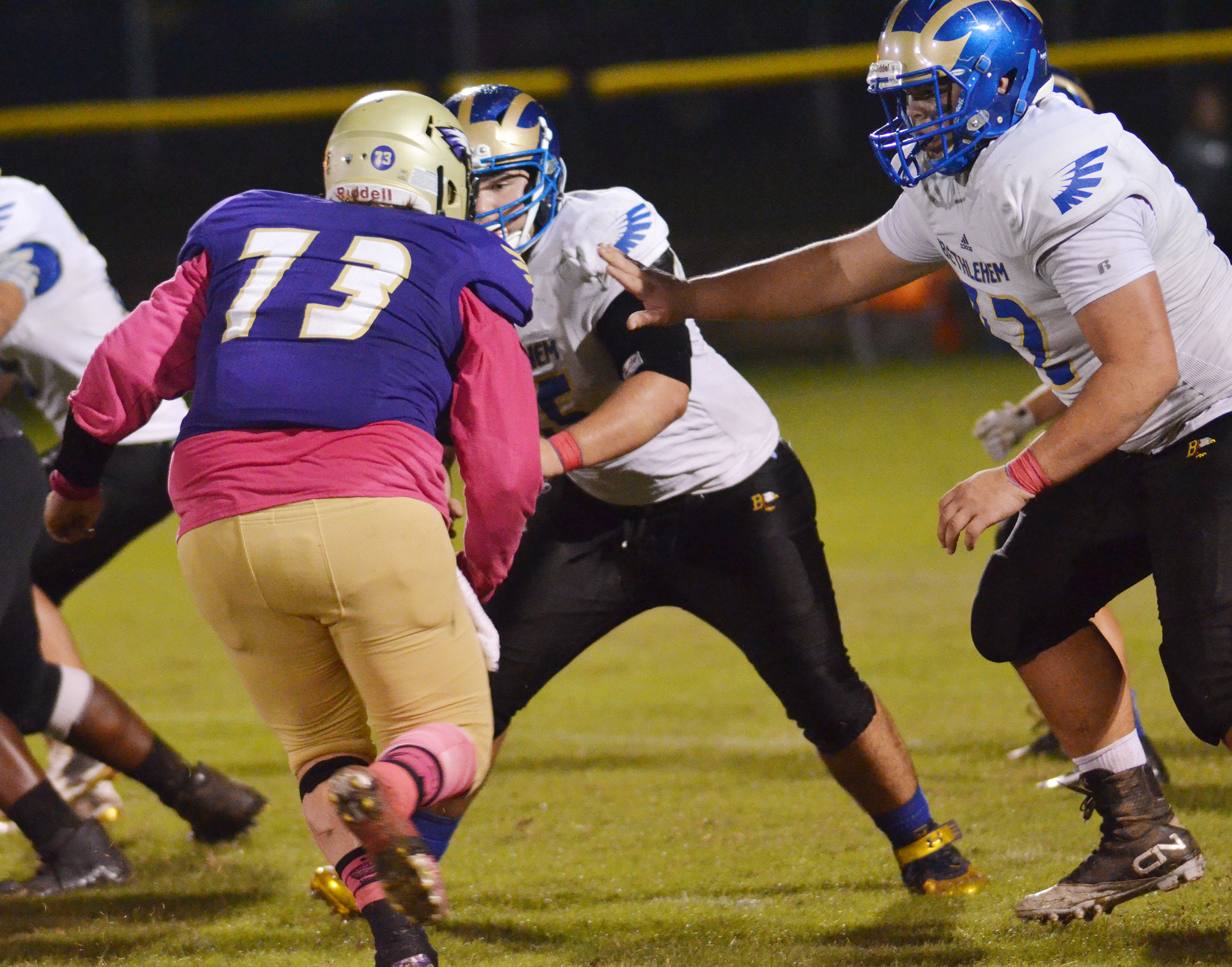 CHS senor Ryan Jeffries tackles.