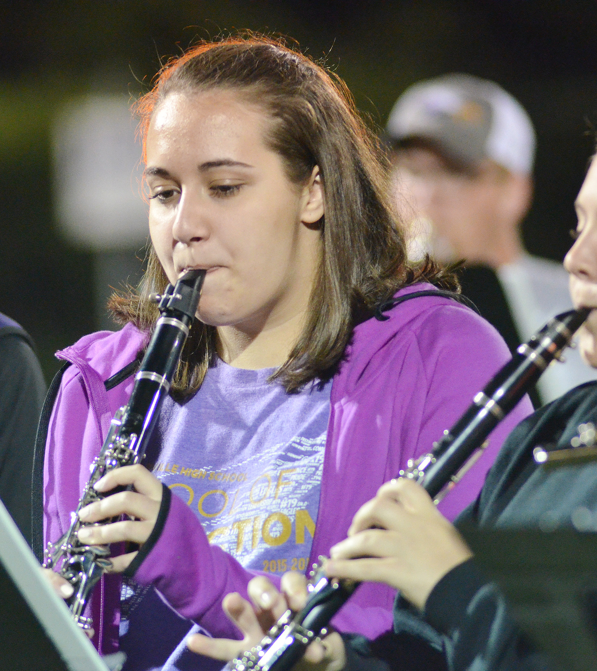 CHS junior Elizabeth Sullivan plays with the CHS pep band.