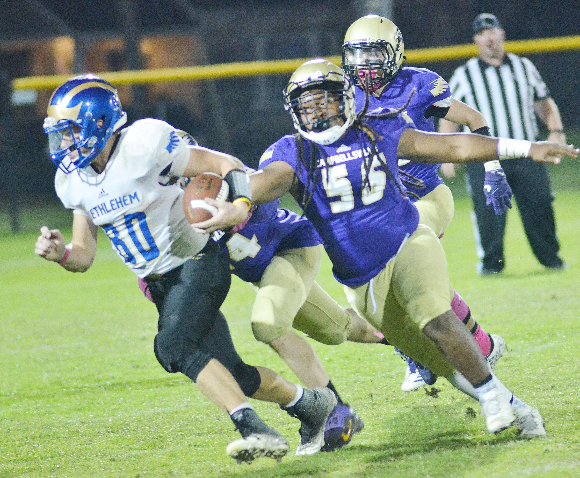 CHS sophomore Taekwon McCoy runs after a Bethlehem player.