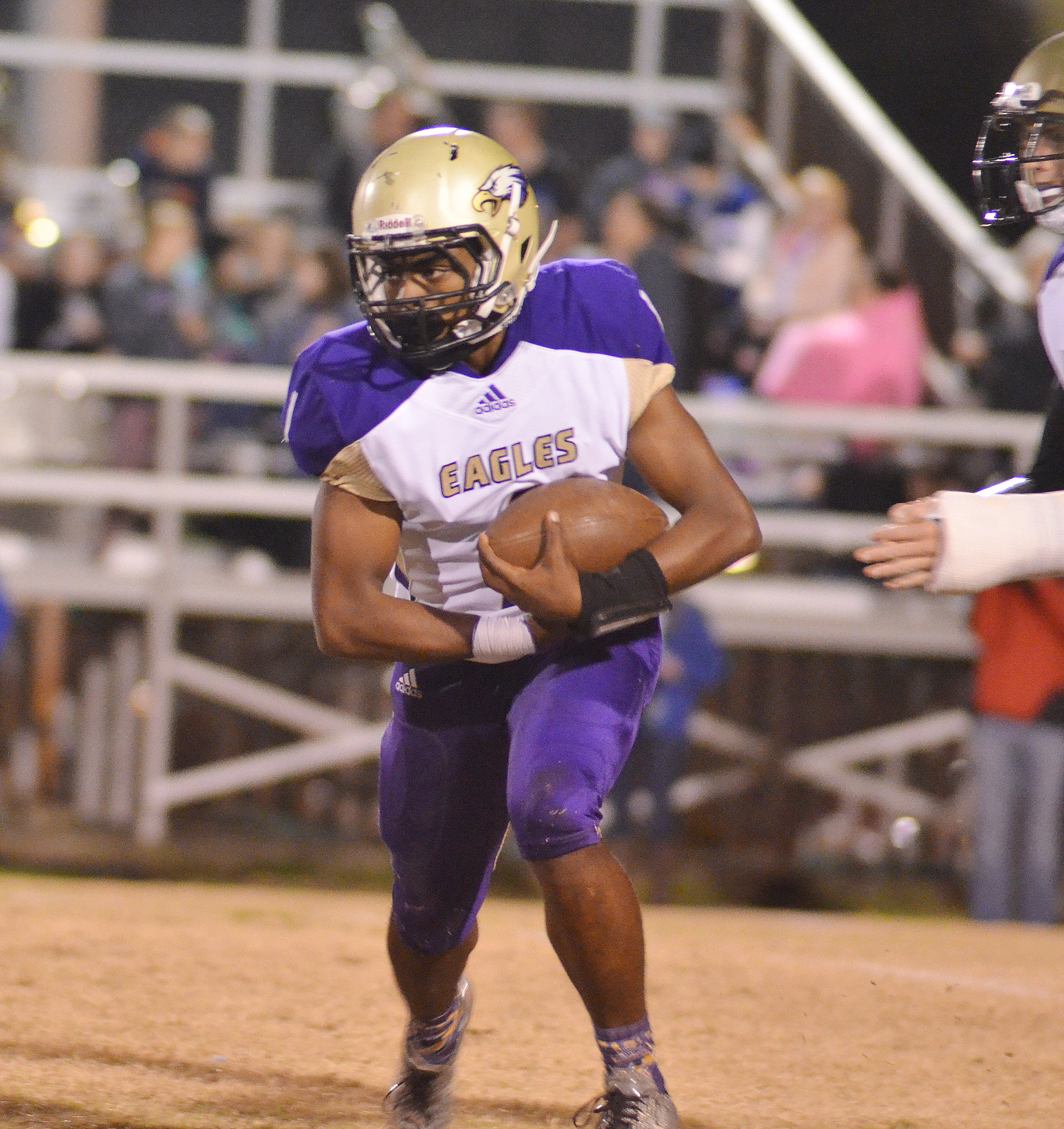CHS junior Charlie Pettigrew runs the ball.
