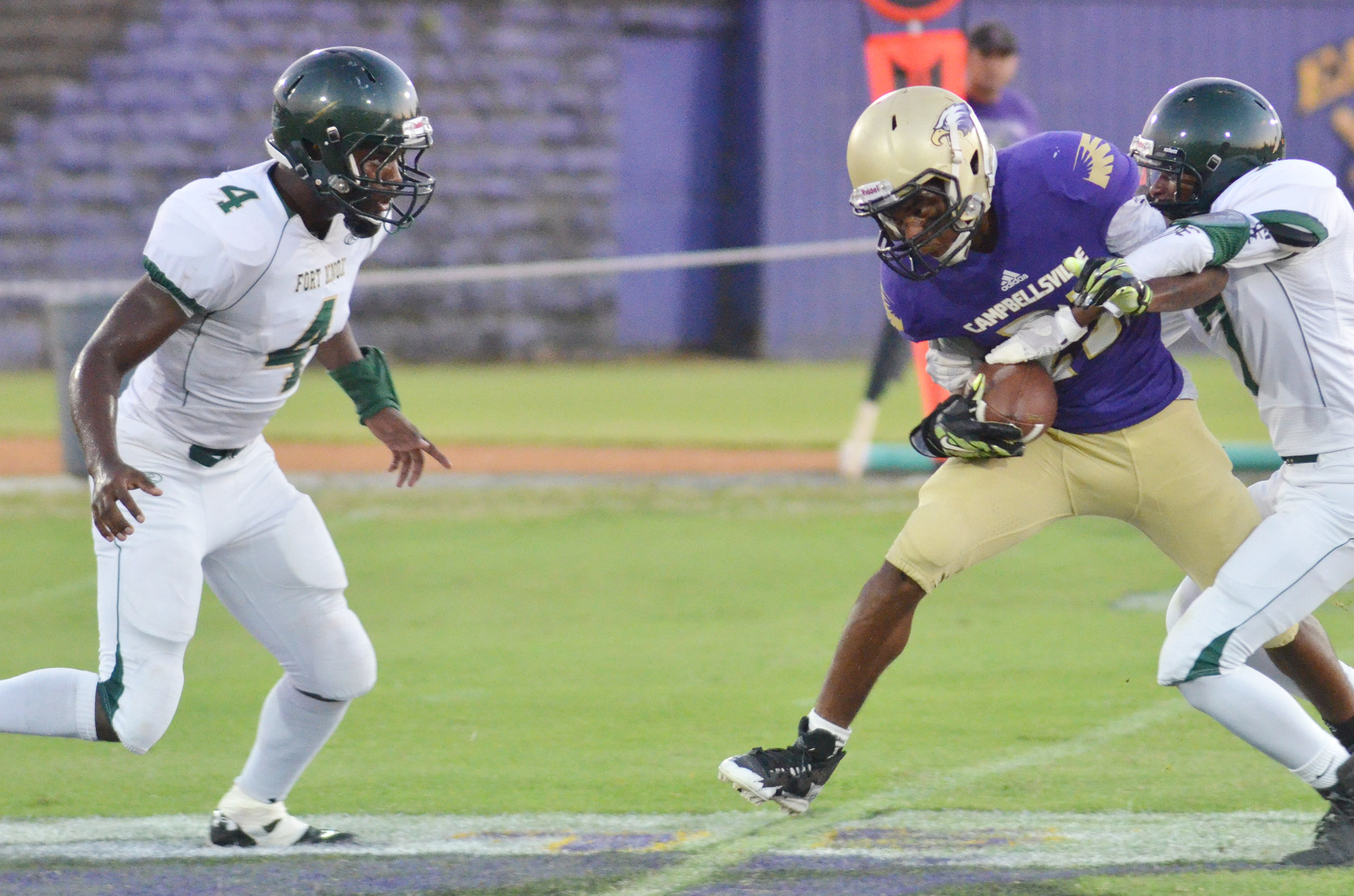 CHS senior Tyrion Taylor runs the ball.