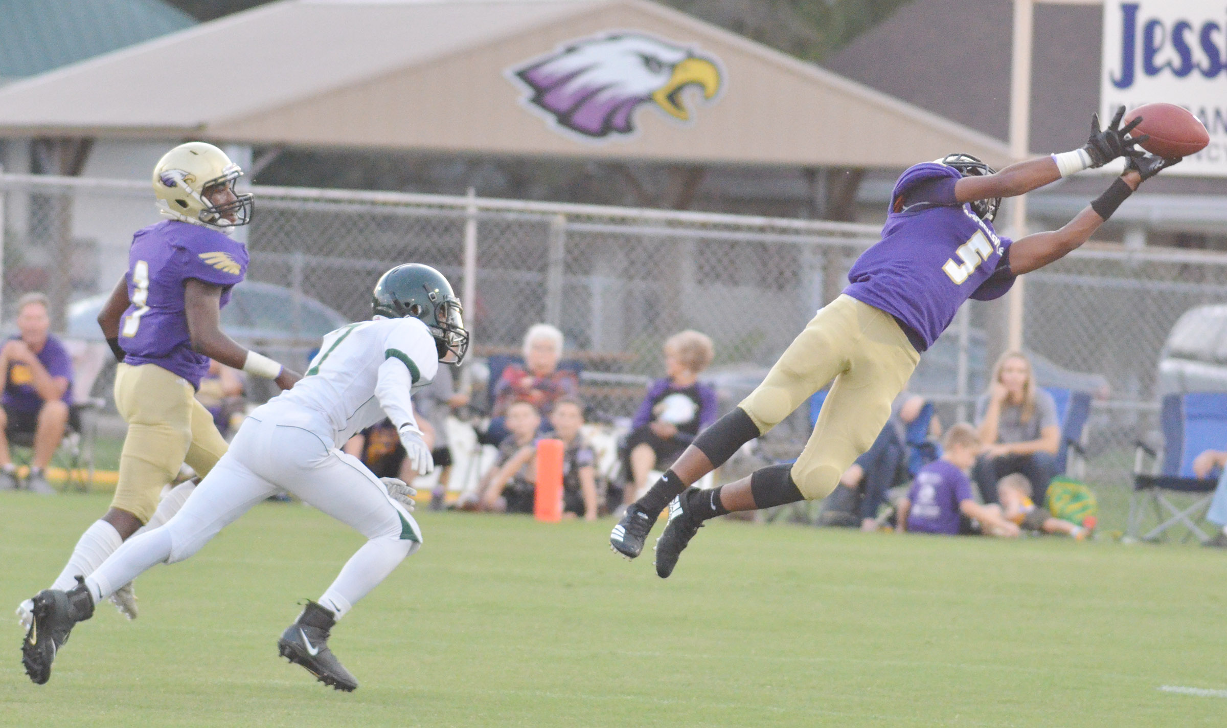 CHS freshman Reggie Thomas jumps for the ball.