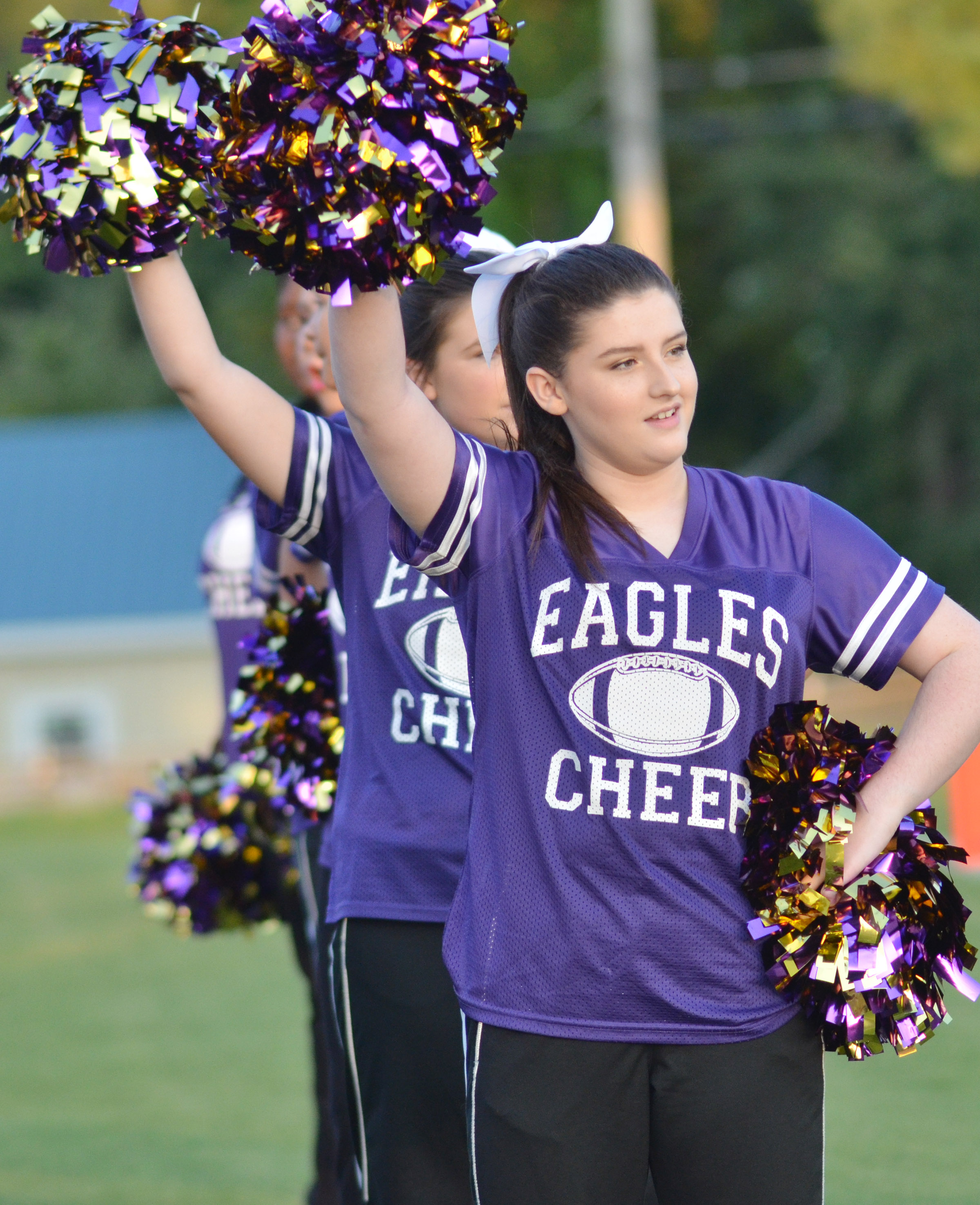 CHS sophomore Alli Wilson cheers for the Eagles.