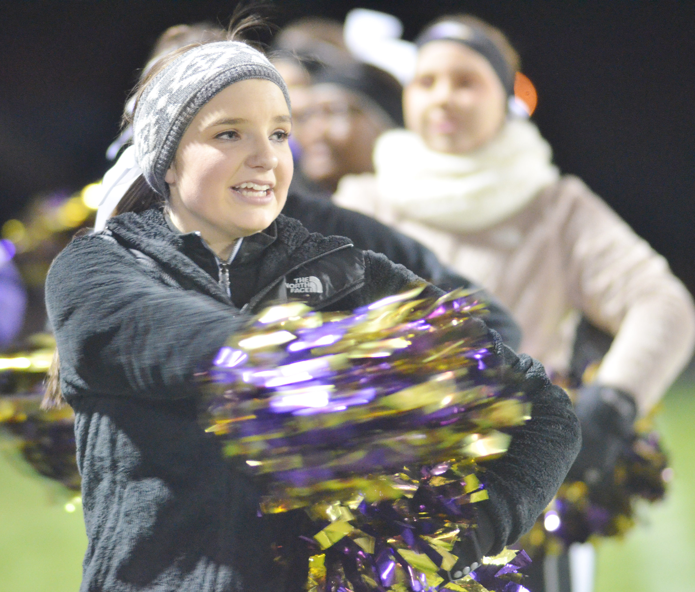 CHS sophomore Sydney Wilson cheers for the Eagles.