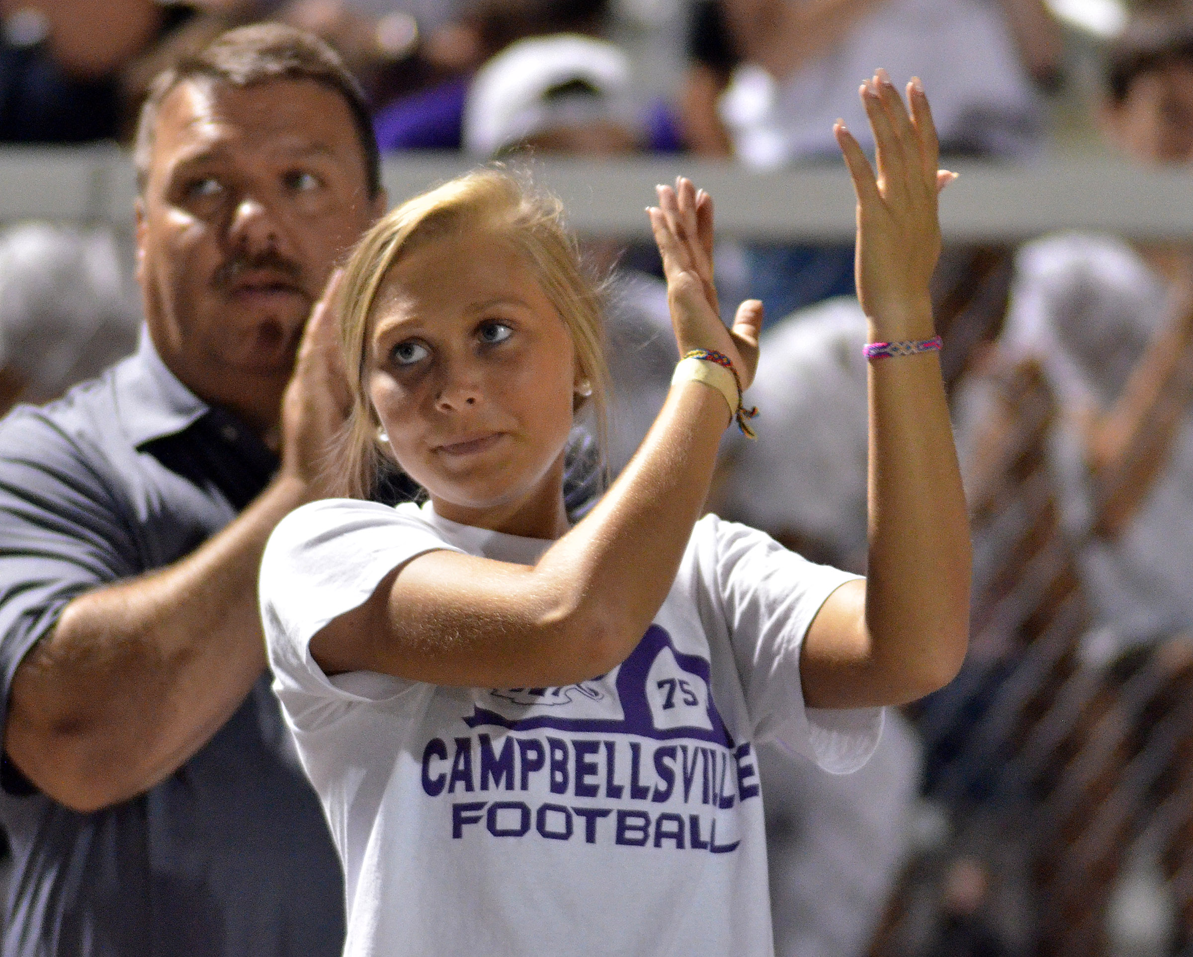 CHS junior Tatem Wiseman cheers for the Eagles.